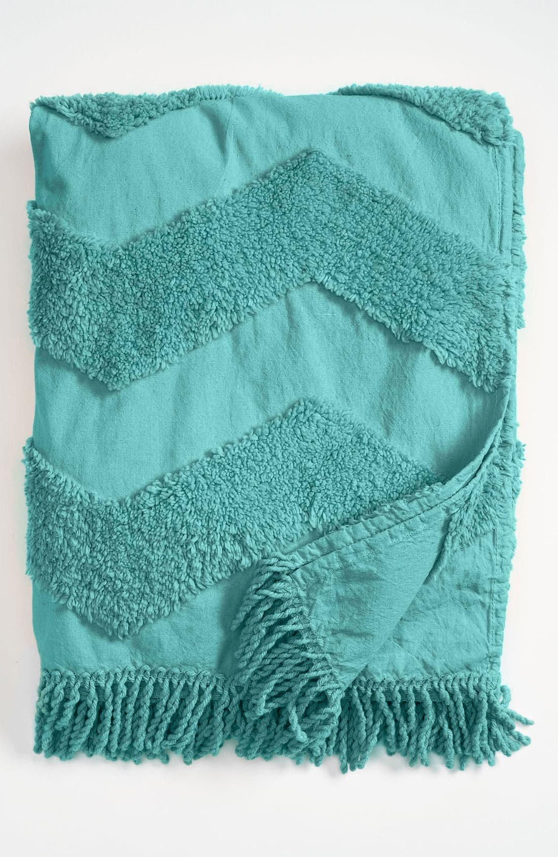 Zigzag Tufted Throw,                             Main thumbnail 2, color,