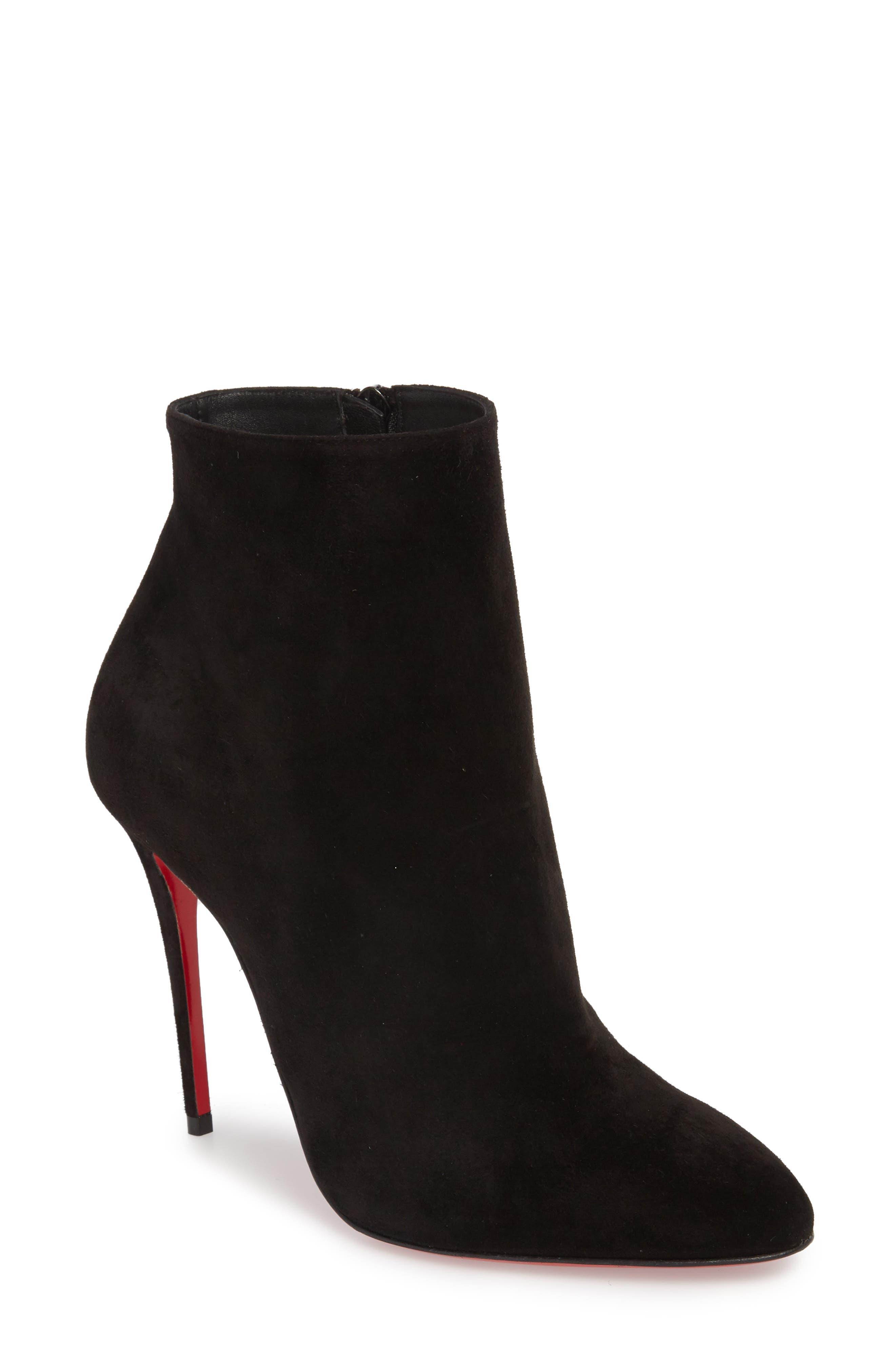 Eloise Almond Toe Bootie,                         Main,                         color, BLACK