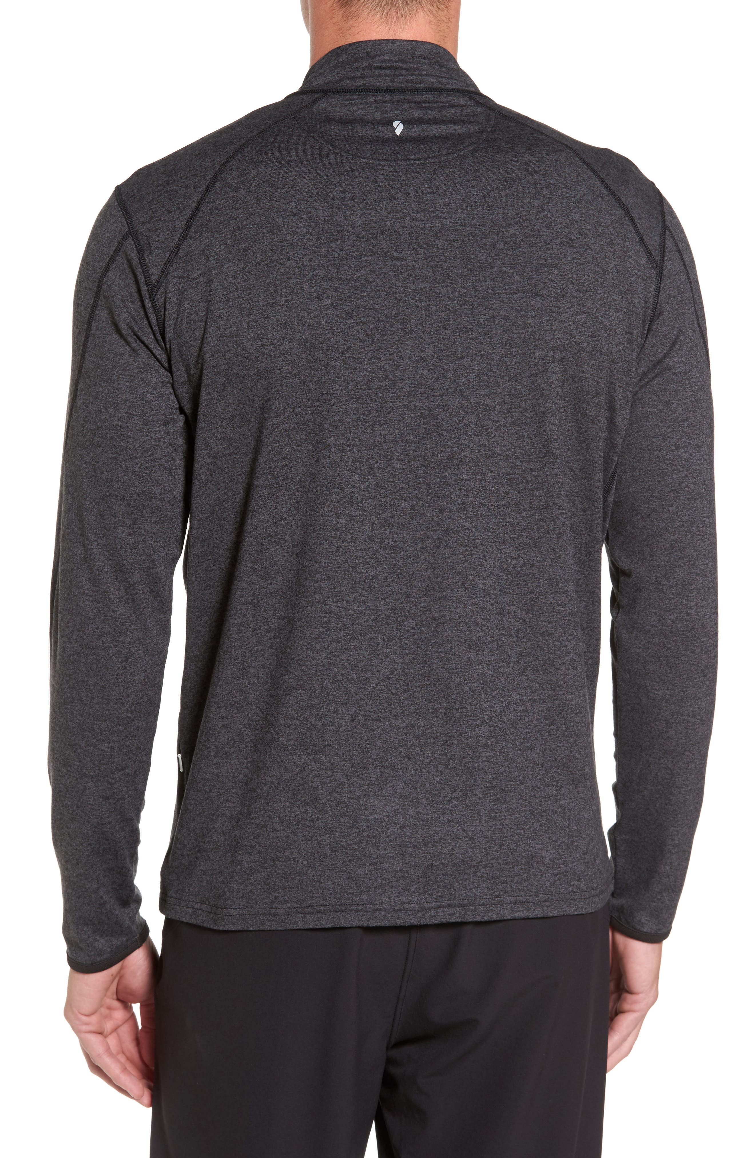 'Elevate' Moisture Wicking Stretch Quarter Zip Pullover,                             Alternate thumbnail 2, color,                             001