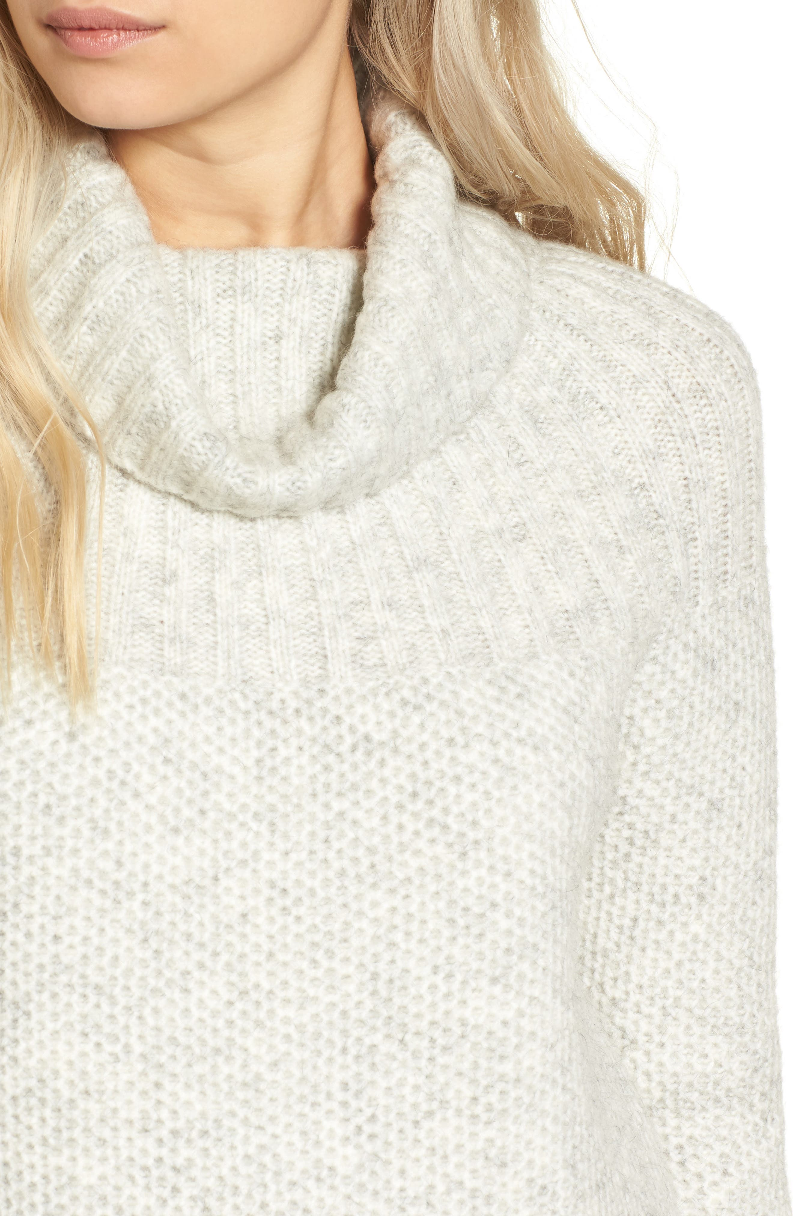 Drawcord Cowl Sweater,                             Alternate thumbnail 4, color,                             020