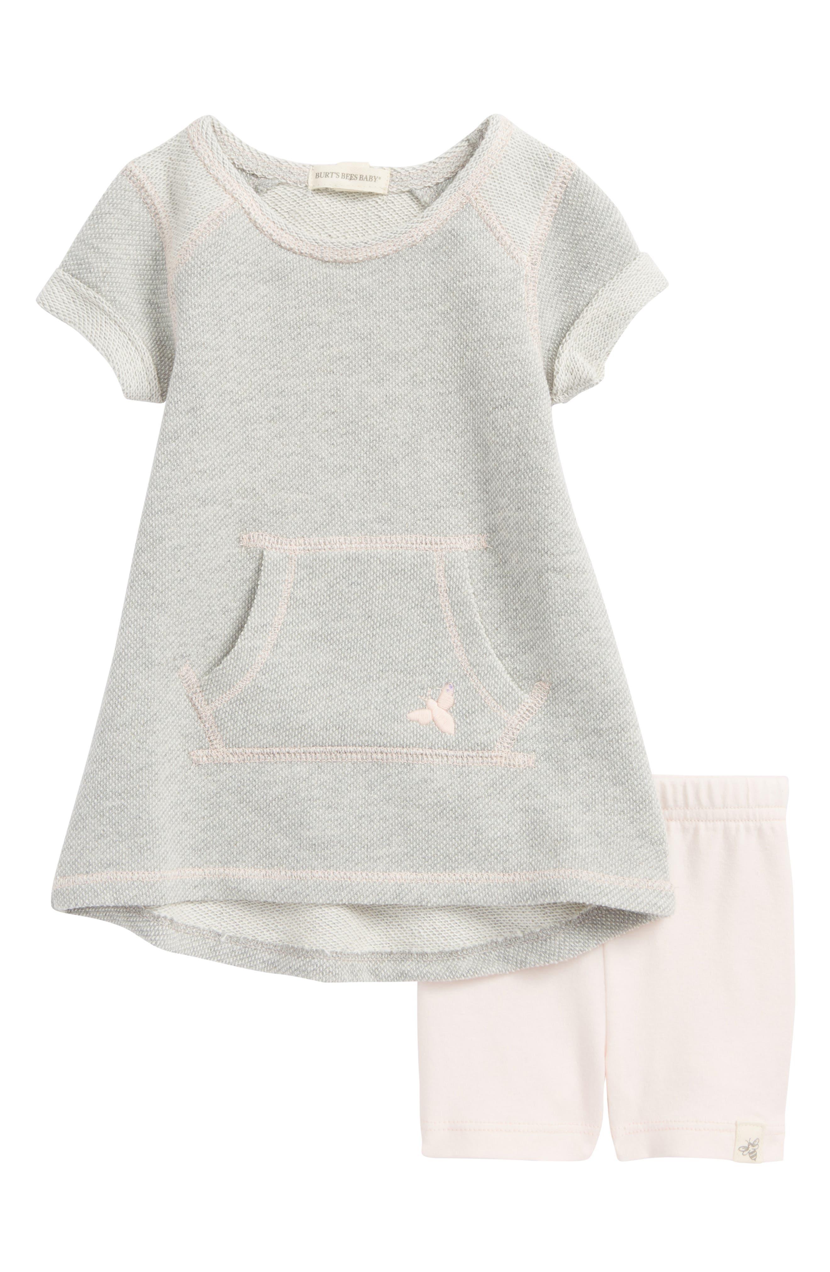 Piqué Organic Cotton Dress & Shorts Set,                             Main thumbnail 1, color,                             050