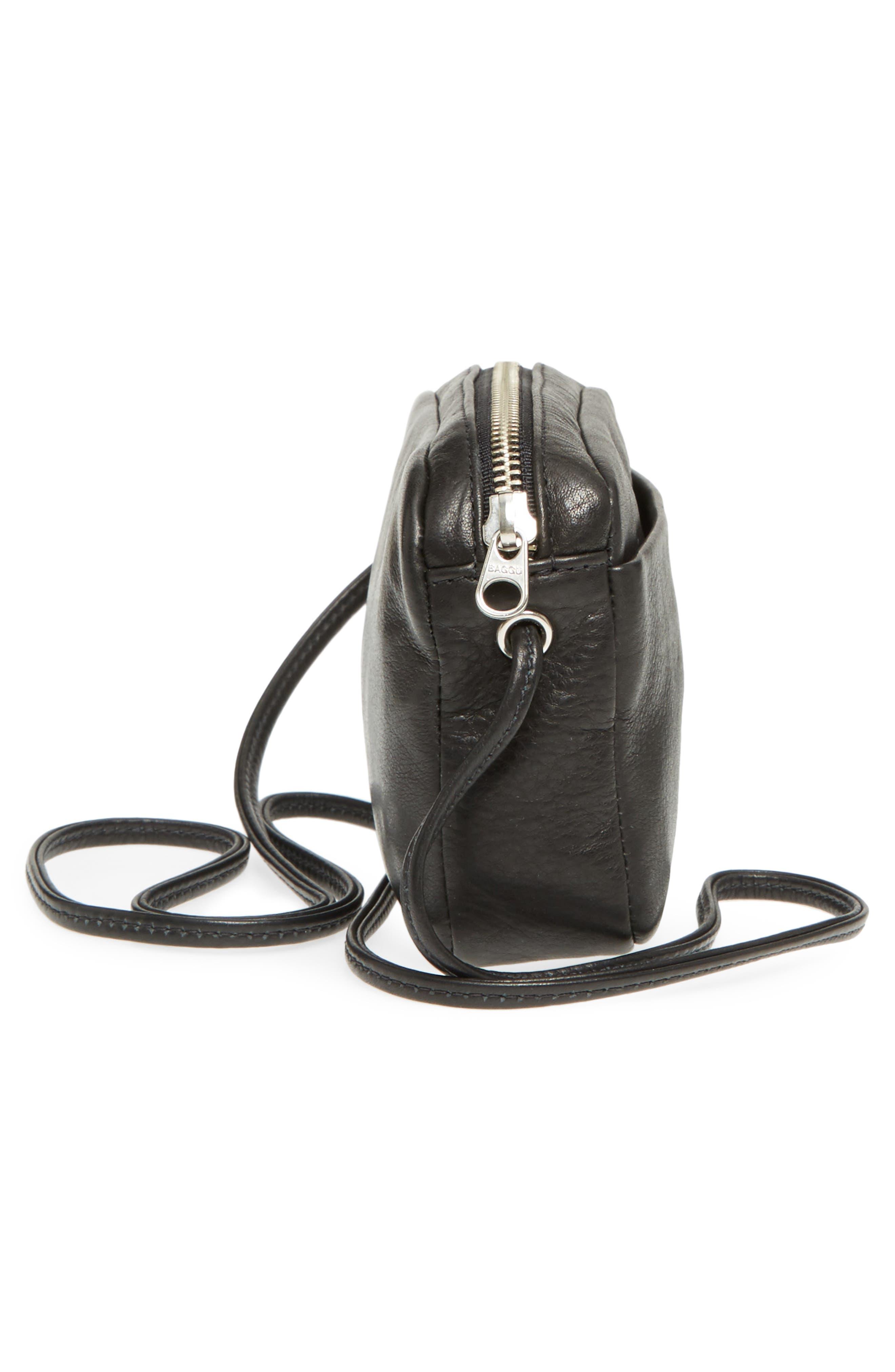 'Mini' Pebbled Leather Crossbody,                             Alternate thumbnail 5, color,                             005