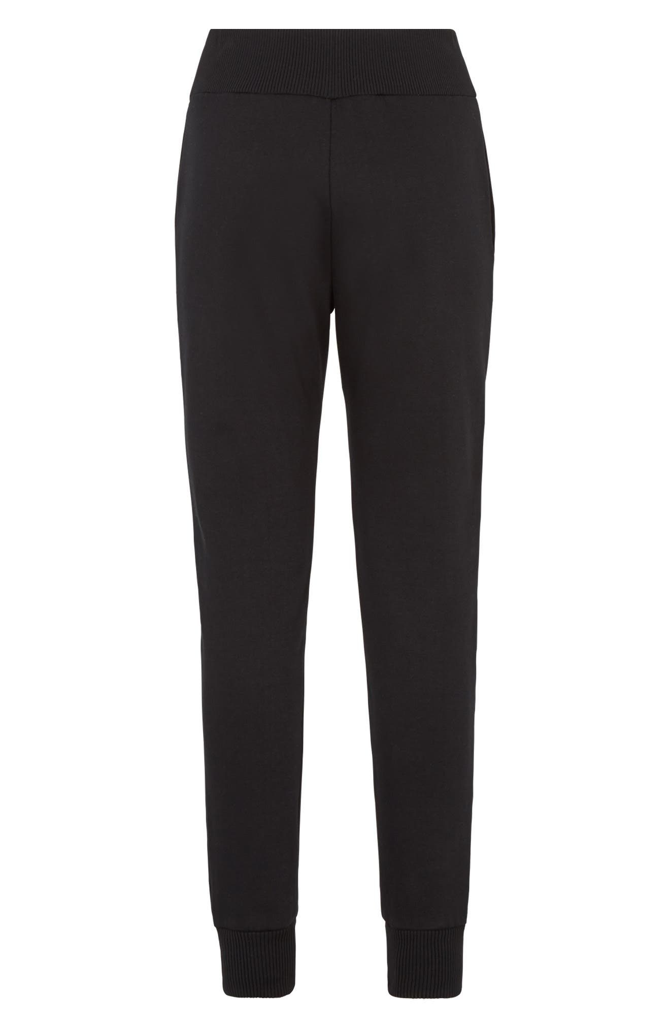 FENDI,                             x FILA Mania Logo Jersey Track Pants,                             Alternate thumbnail 7, color,                             BLACK