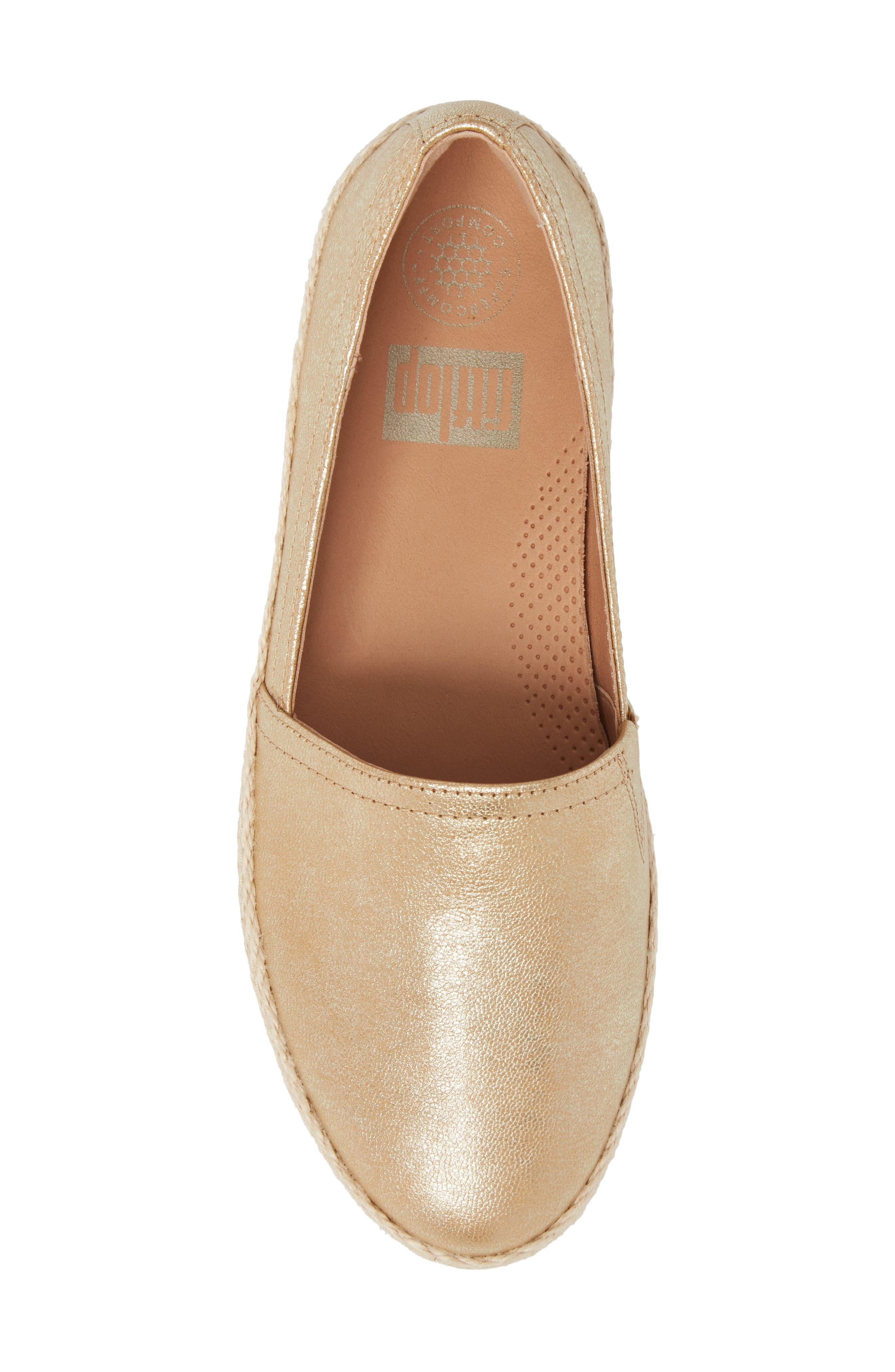 Casa Loafer,                             Alternate thumbnail 5, color,                             METALLIC GOLD LEATHER