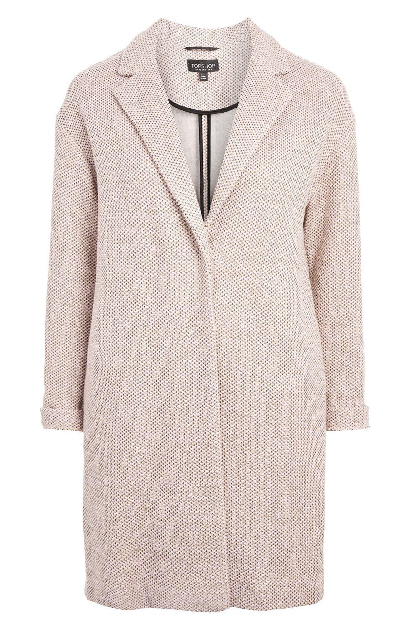 Textured Knit Coat,                             Alternate thumbnail 4, color,                             250