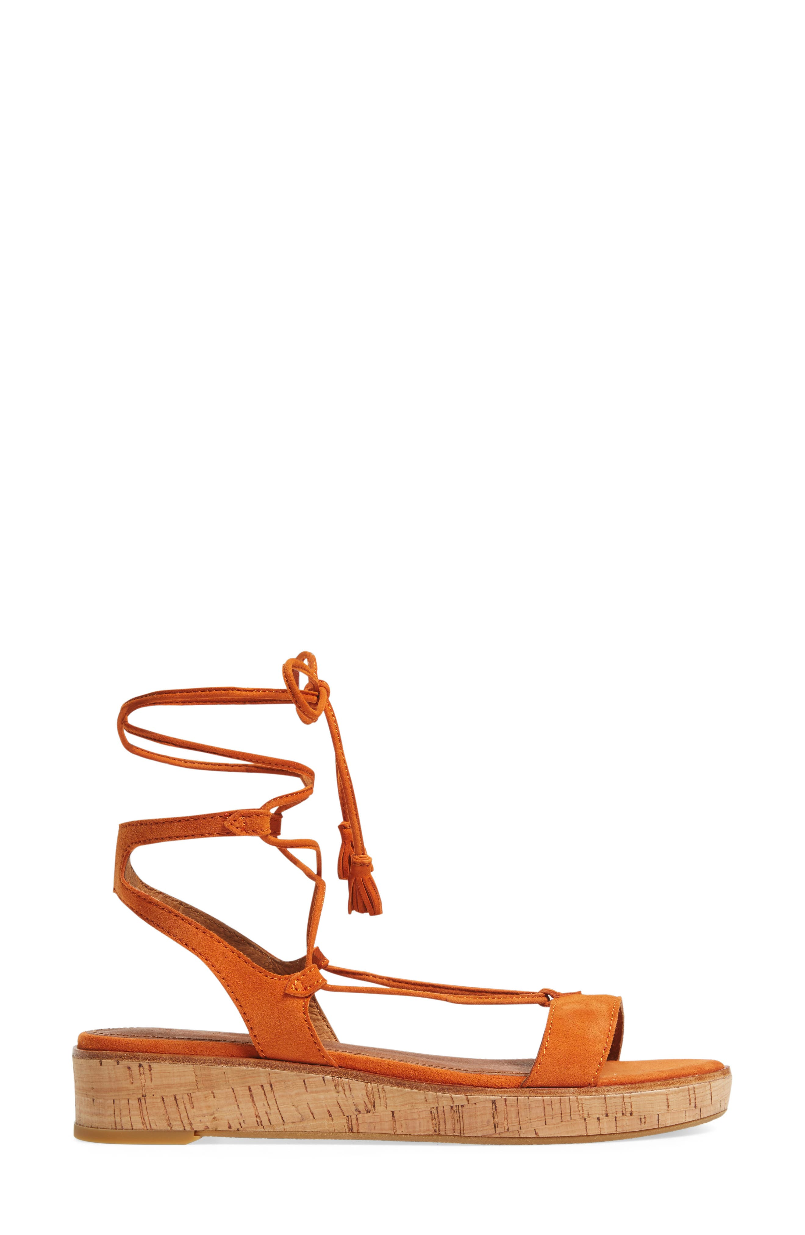 Miranda Gladiator Platform Sandal,                             Alternate thumbnail 3, color,                             ORANGE