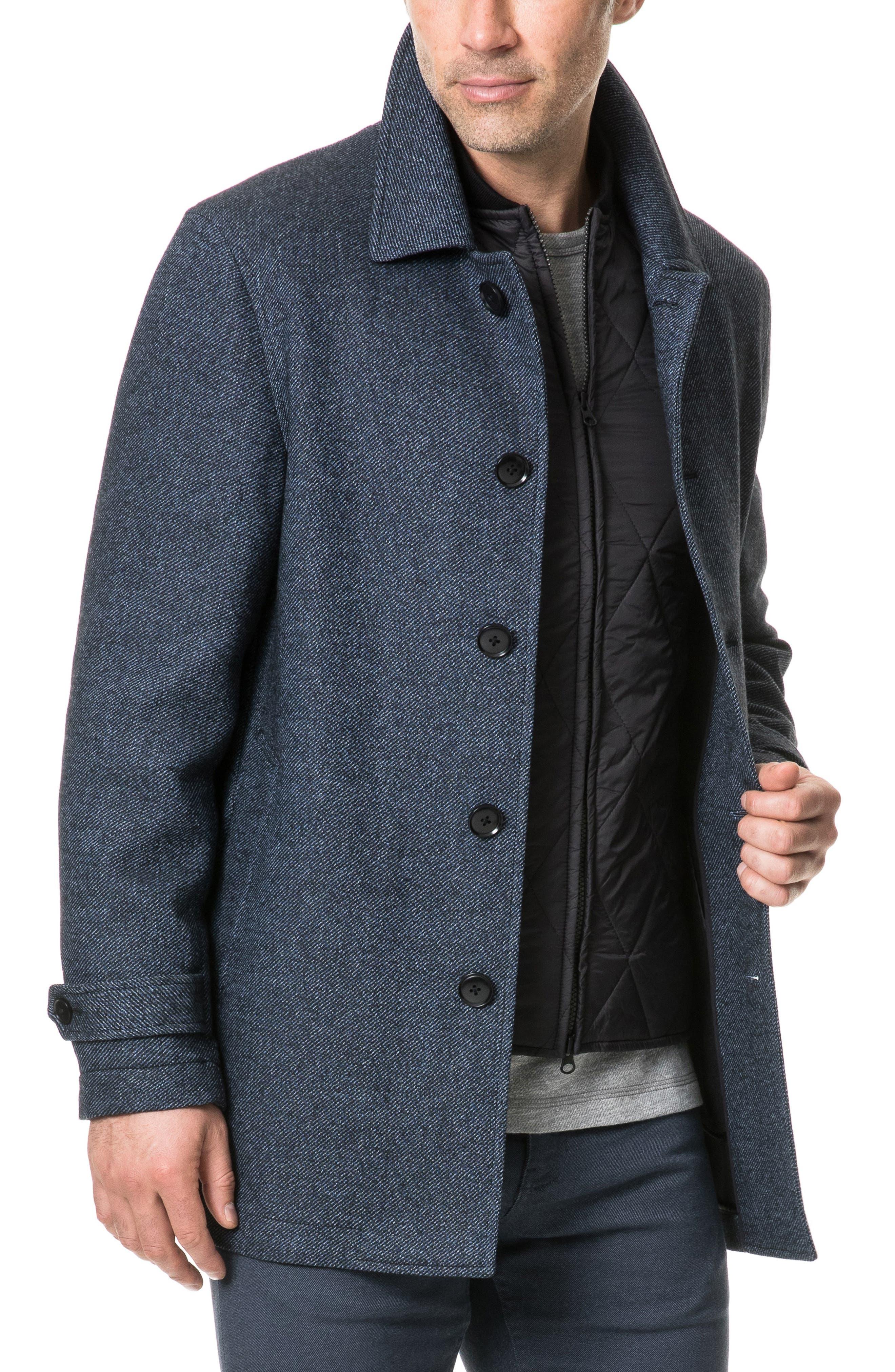 Balmoral Forest Regular Fit Coat,                             Alternate thumbnail 3, color,                             PEACOAT
