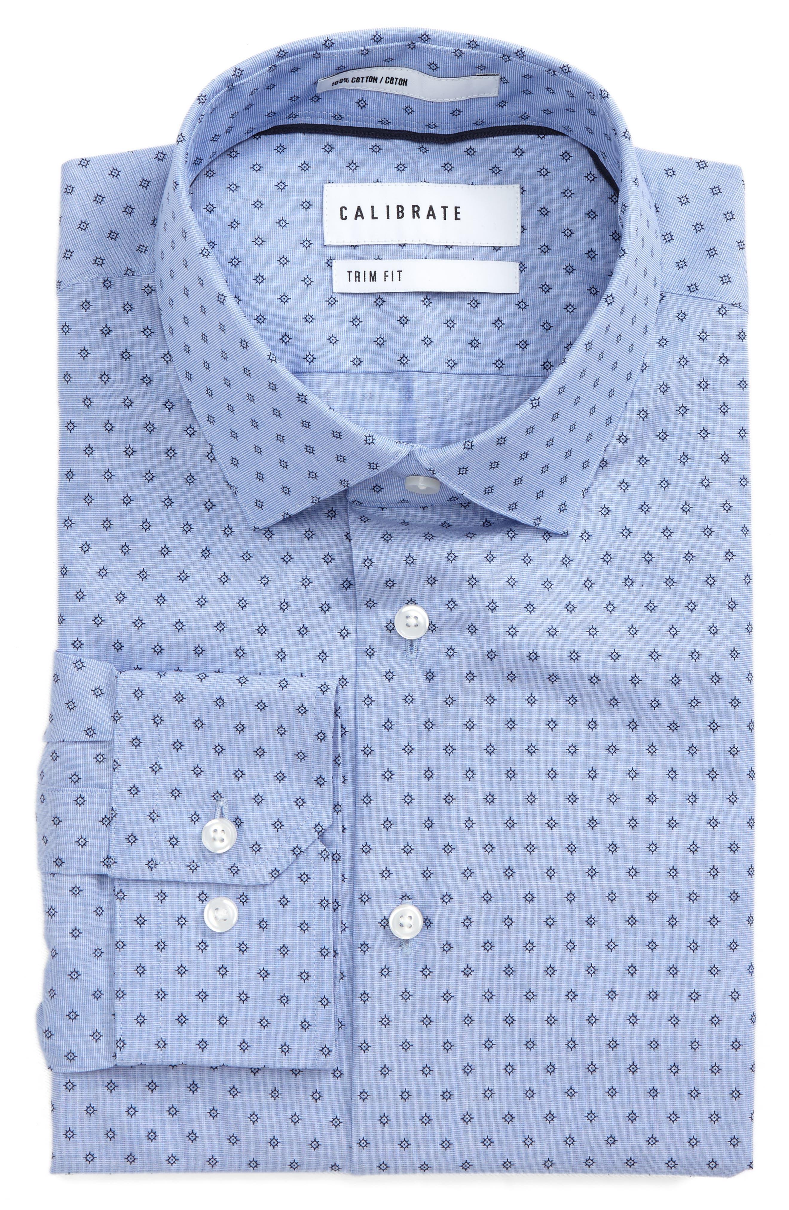 Trim Fit Floral Print Dress Shirt,                         Main,                         color,