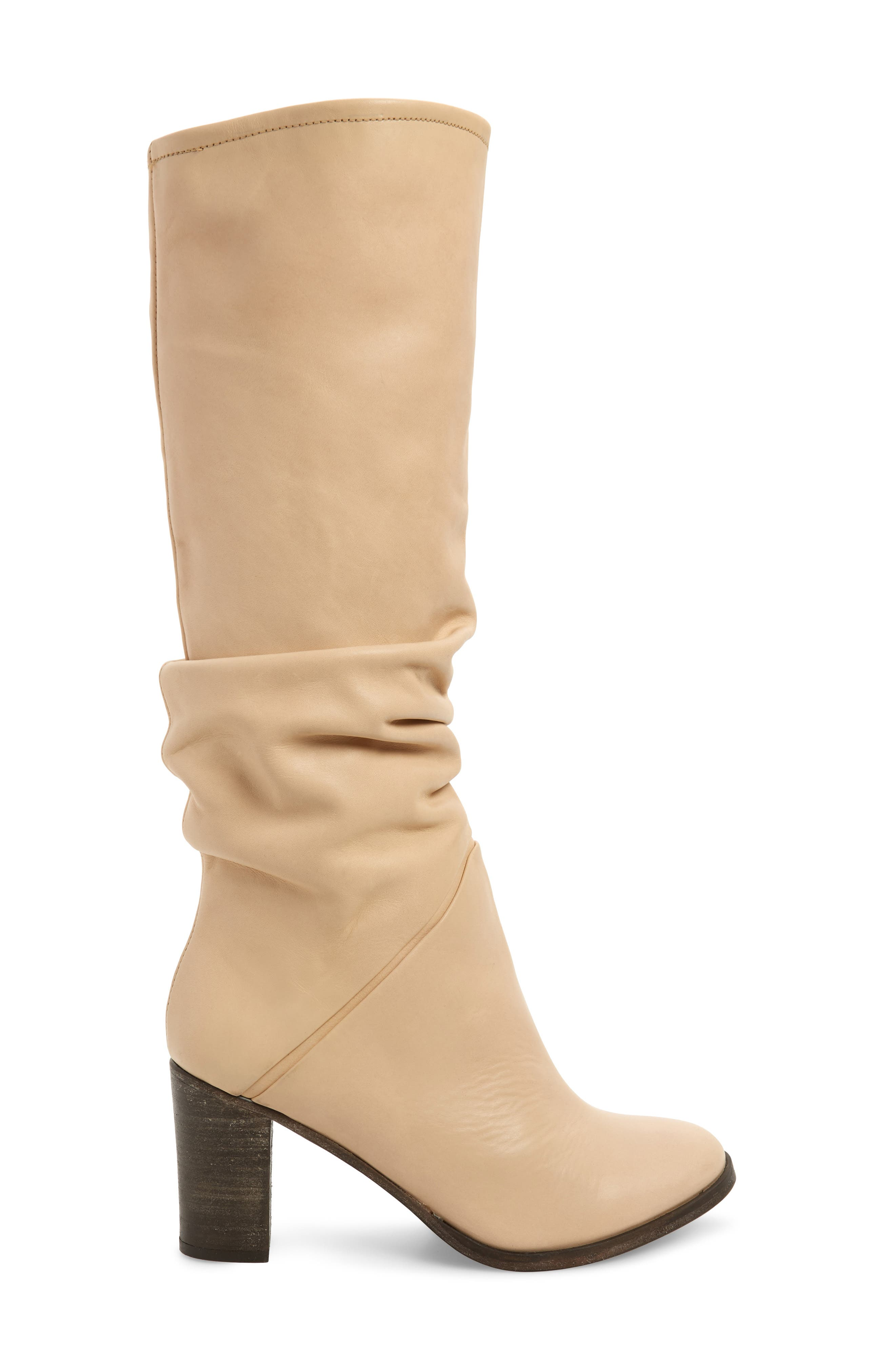 Tennison Knee High Boot,                             Alternate thumbnail 3, color,                             BEIGE LEATHER