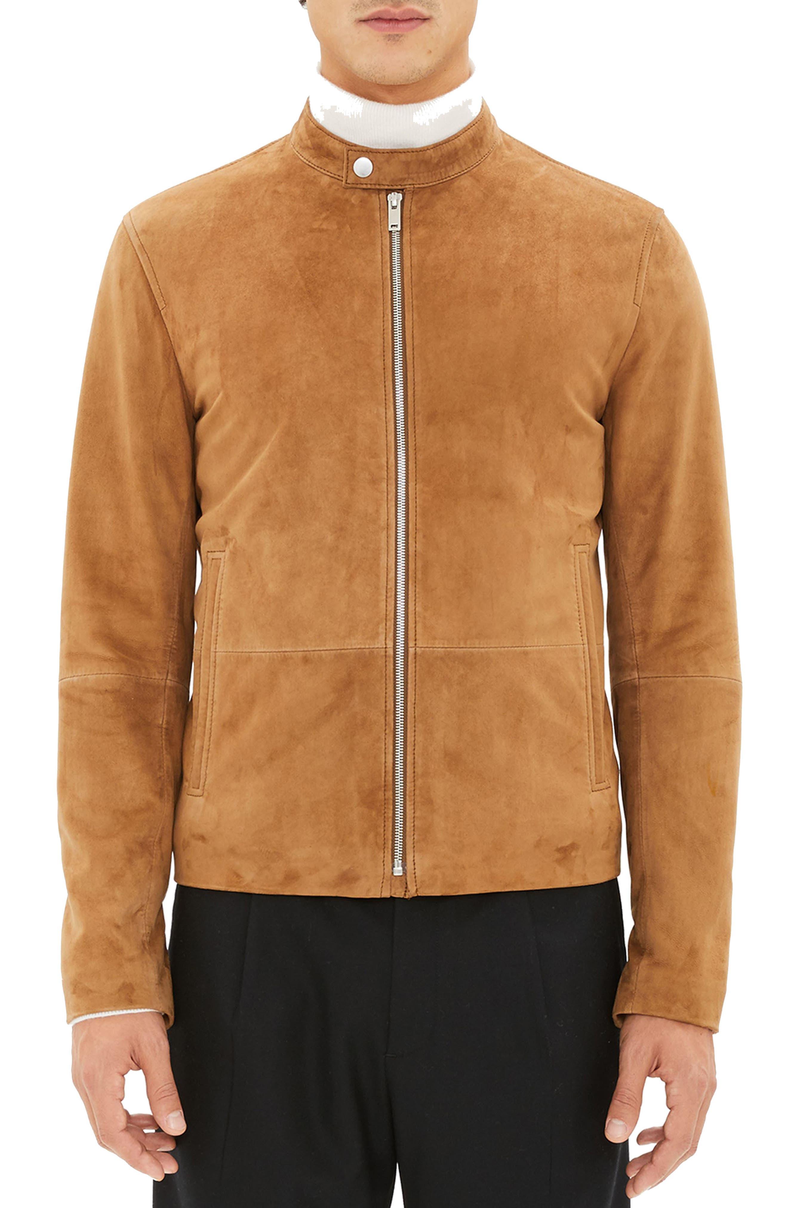 Wynwood Radic Leather Jacket,                             Main thumbnail 1, color,                             SANDSTORM