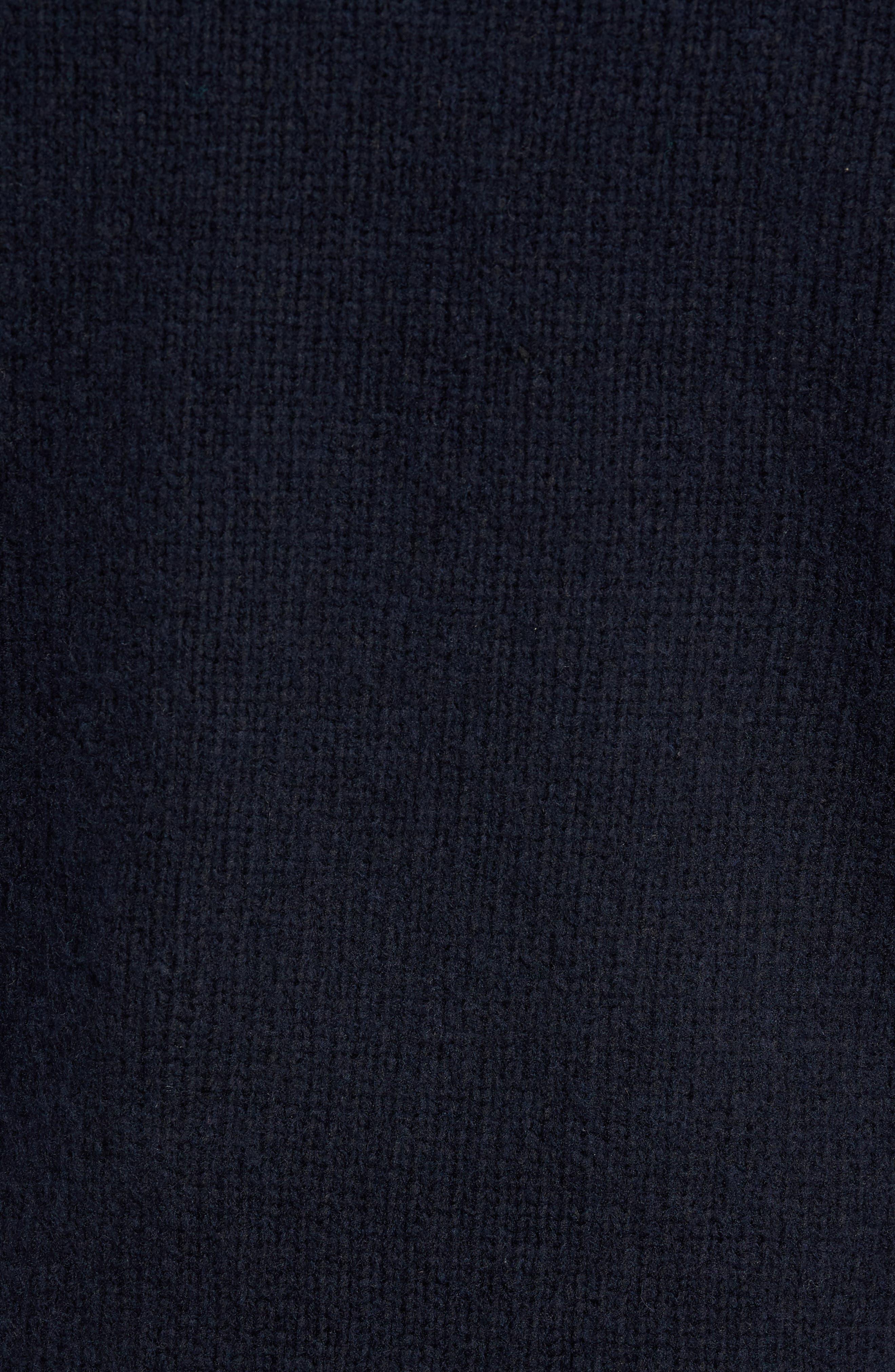 Fuzzy Deep V-Neck Wool Blend Sweater,                             Alternate thumbnail 10, color,