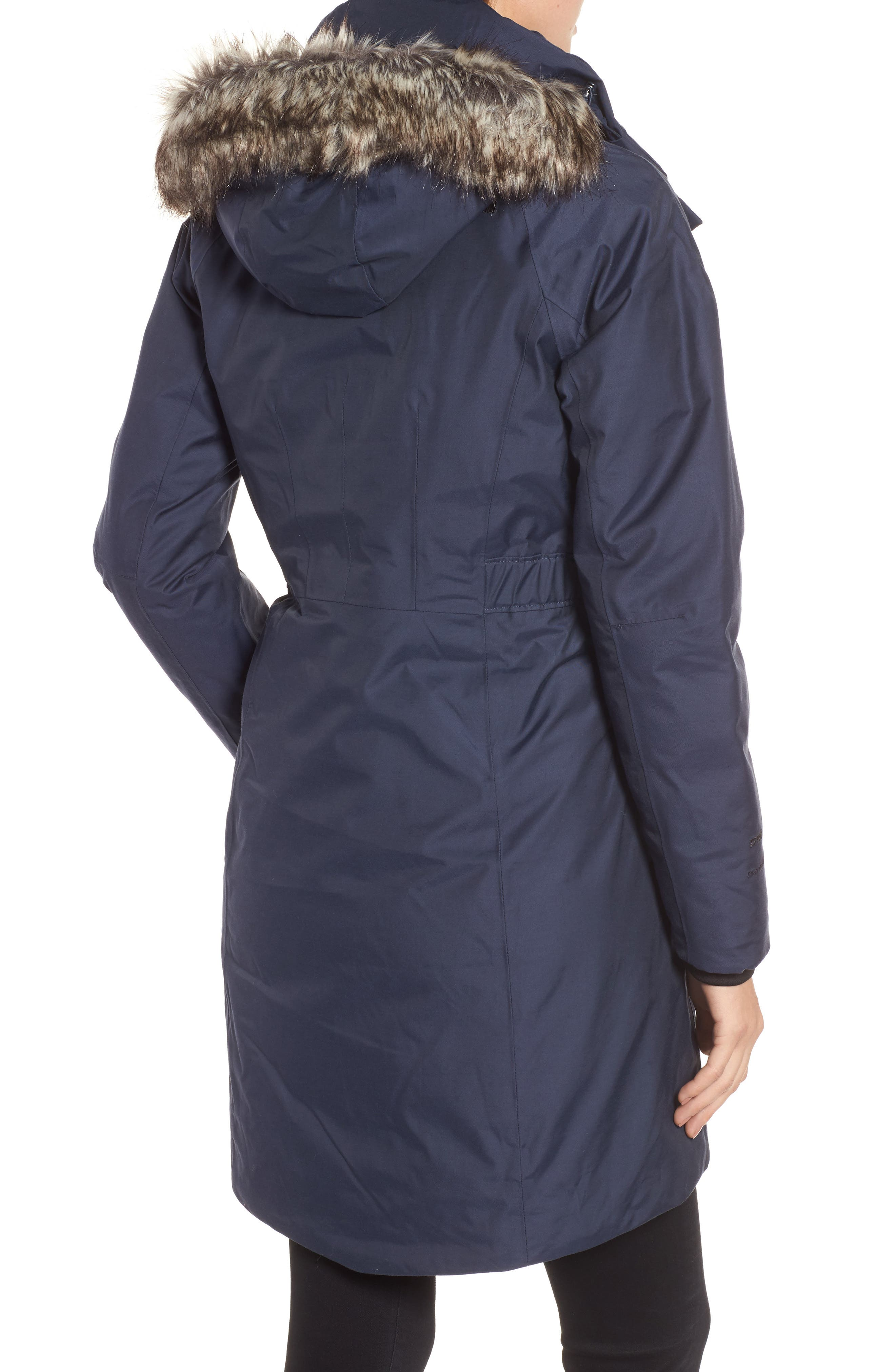 Arctic II Waterproof 550-Fill-Power Down Parka with Faux Fur Trim,                             Alternate thumbnail 9, color,