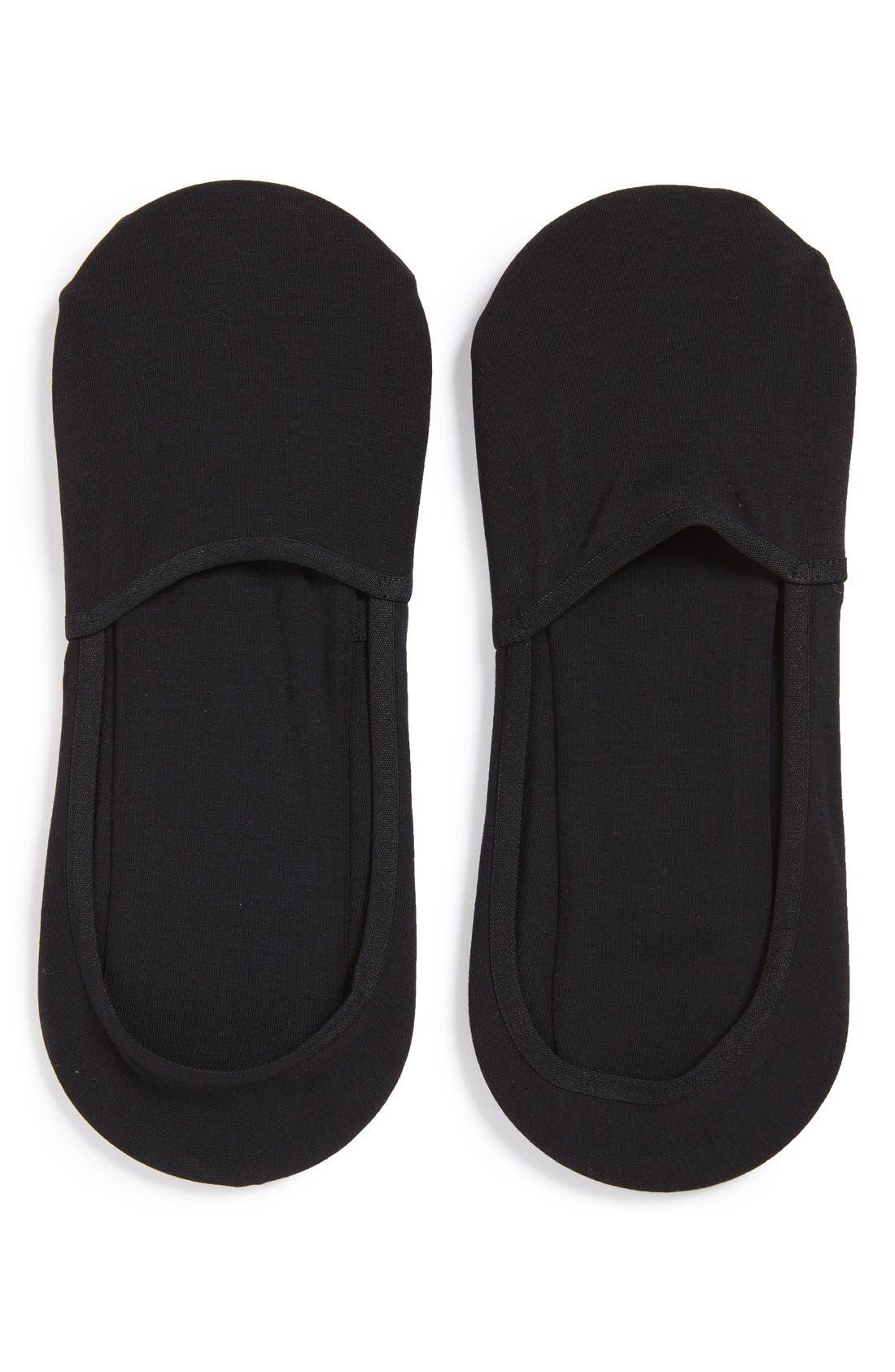 2-Pack No-Show Socks,                         Main,                         color, BLACK
