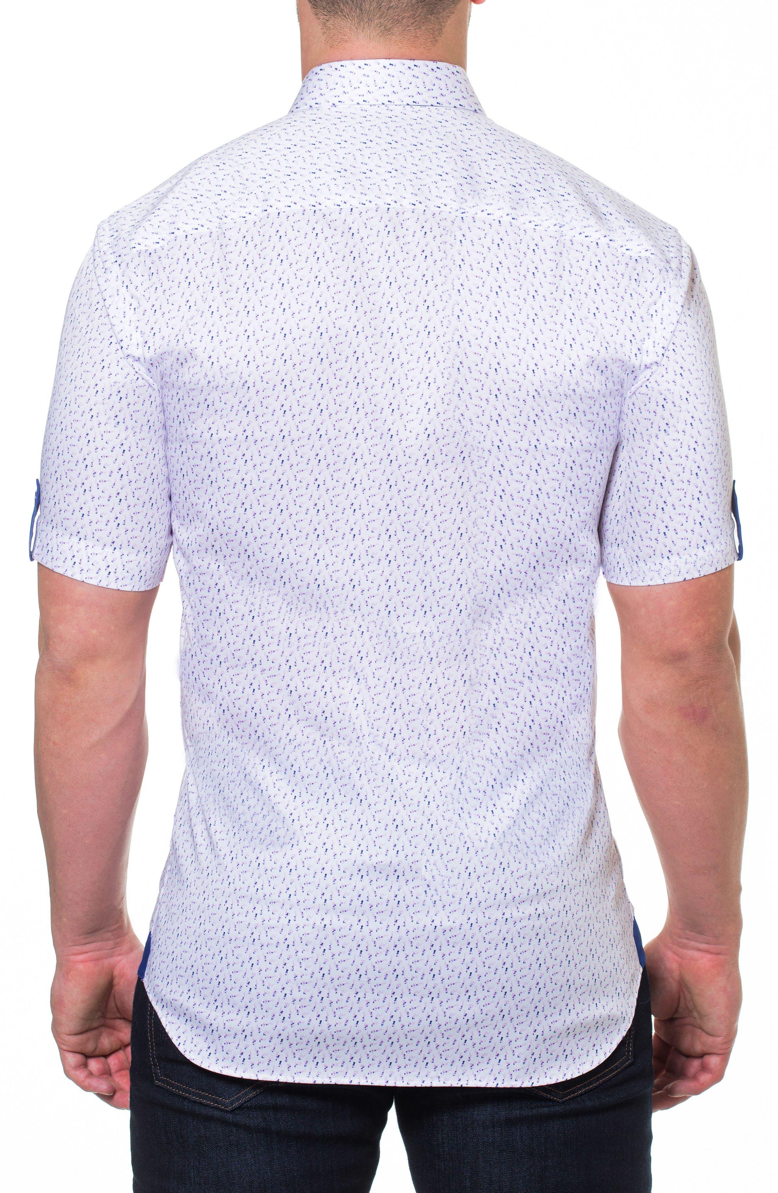 Print Short Sleeve Sport Shirt,                             Alternate thumbnail 2, color,
