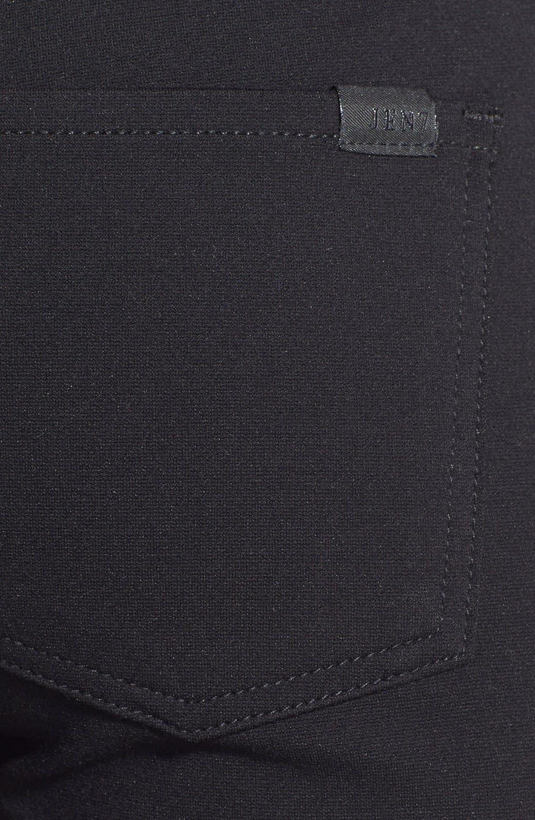 Five Pocket Skinny Ponte Pants,                             Alternate thumbnail 2, color,                             BLACK
