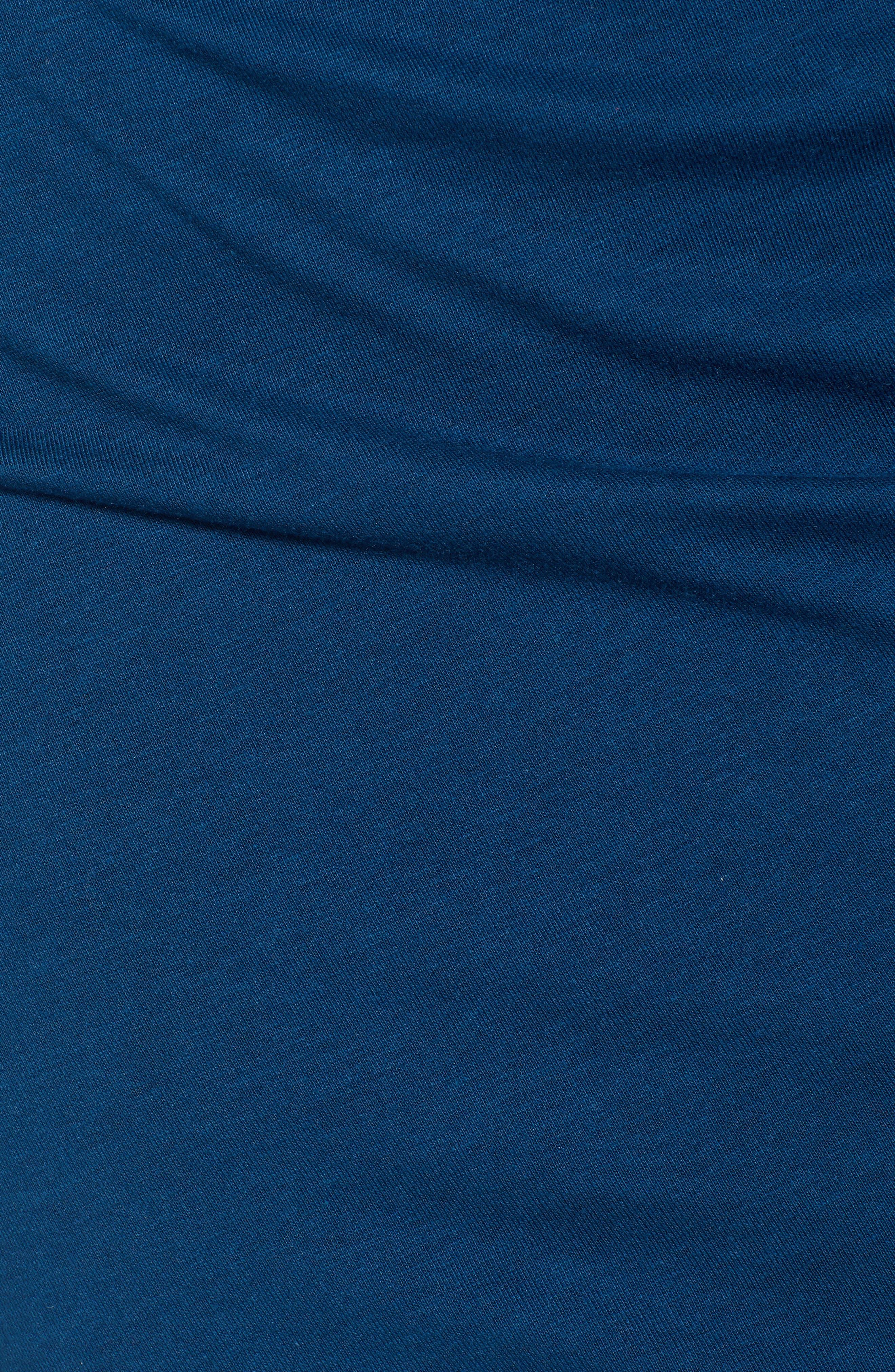 Ruched Long Sleeve Dress,                             Alternate thumbnail 6, color,                             BLUE AURORA