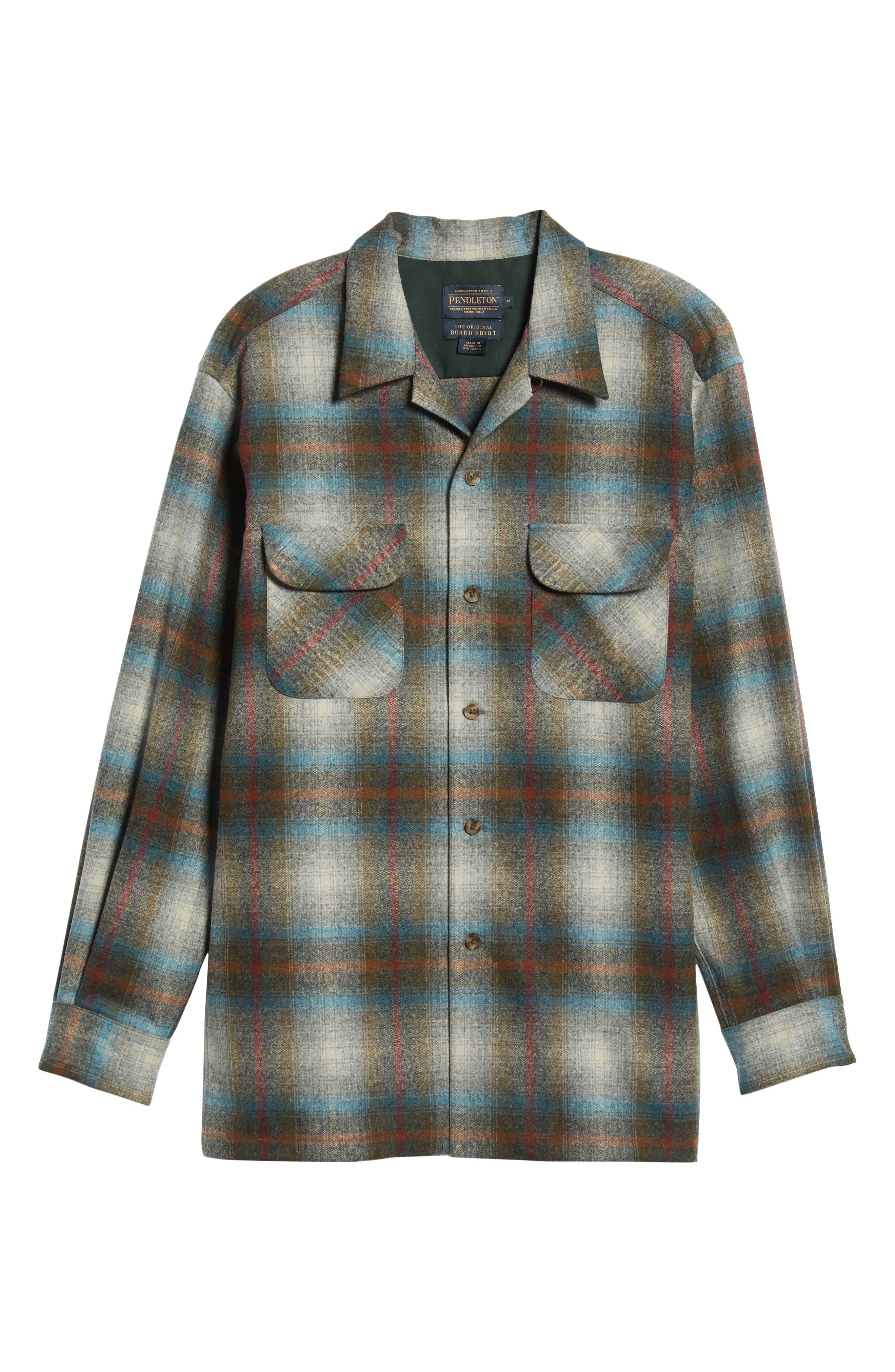 Board Wool Flannel Shirt,                             Alternate thumbnail 5, color,                             MULTI PLAID