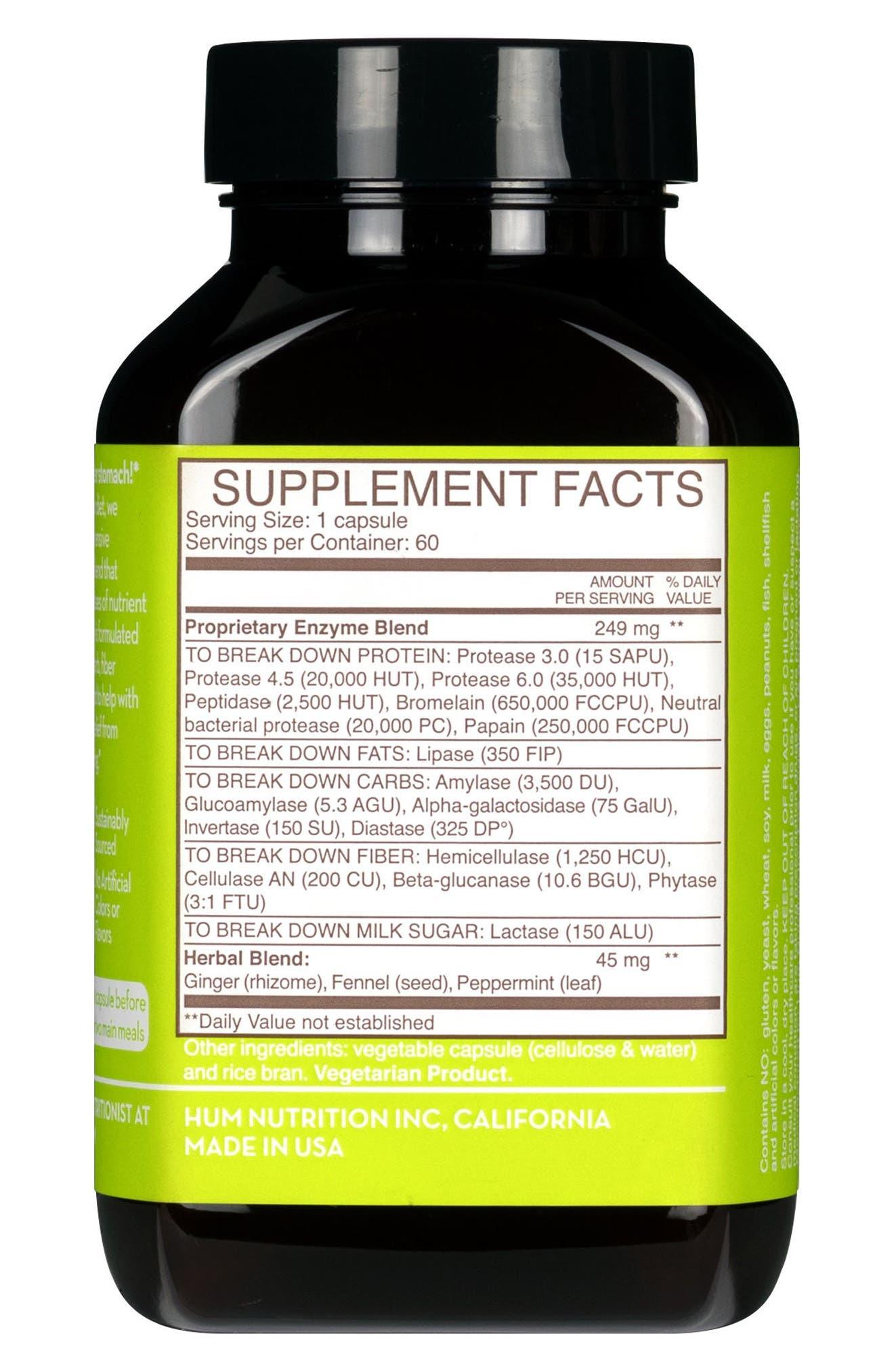 Flatter Me Digestive Enzyme Supplement,                             Alternate thumbnail 3, color,                             NO COLOR