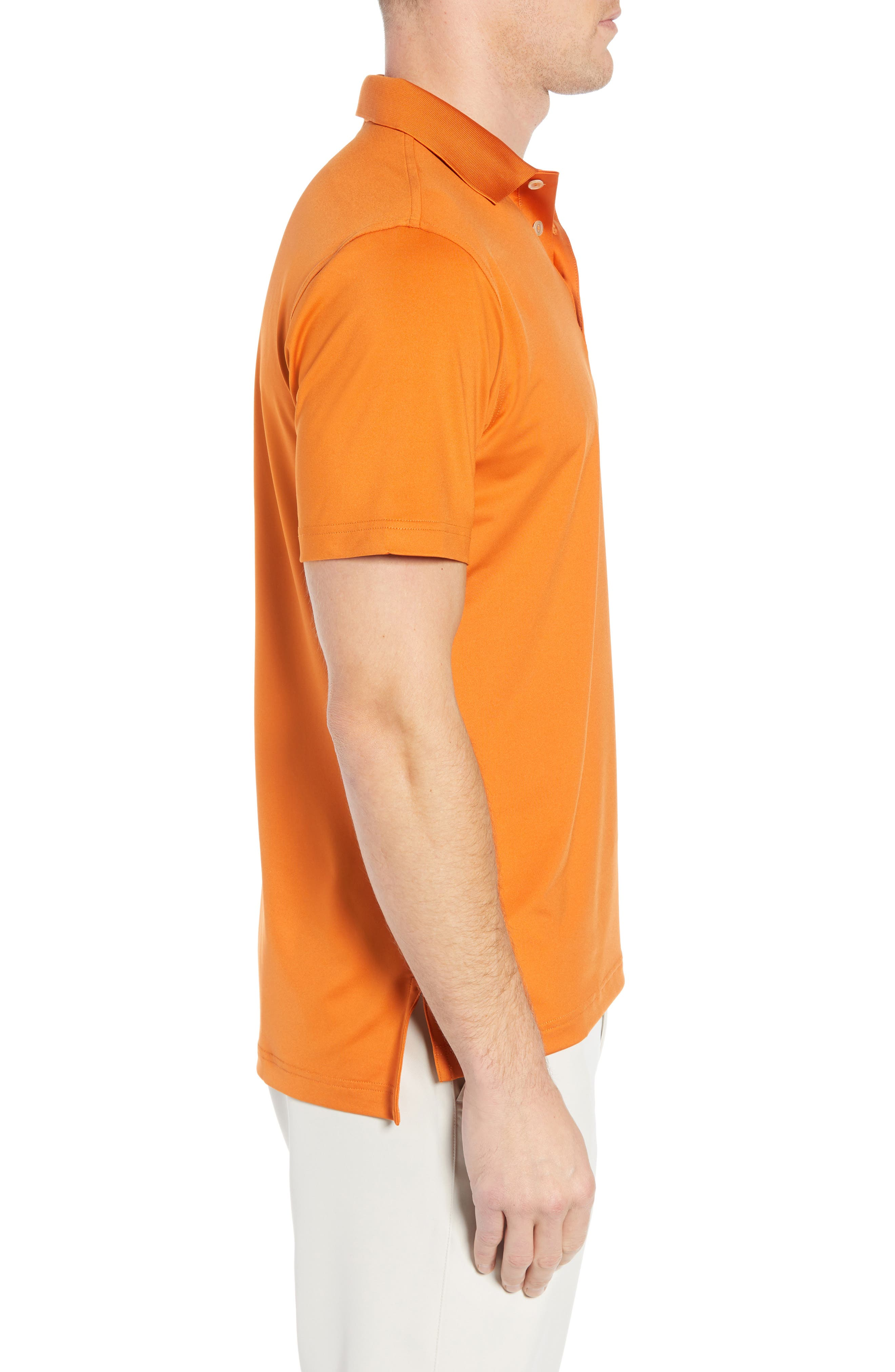 Texas Solid Performance Polo Shirt,                             Alternate thumbnail 3, color,                             600
