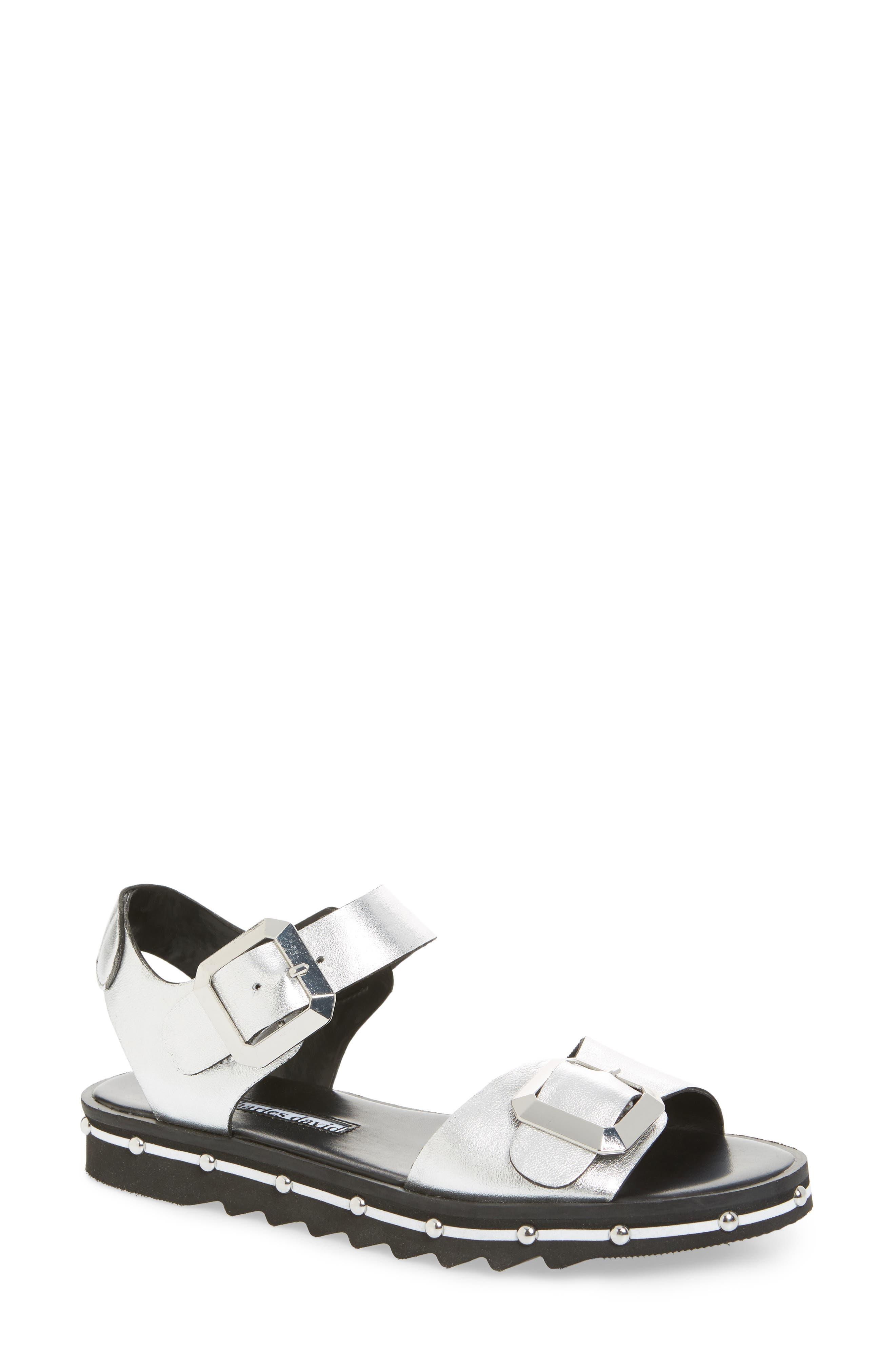 Charles David Spy Sandal- Metallic