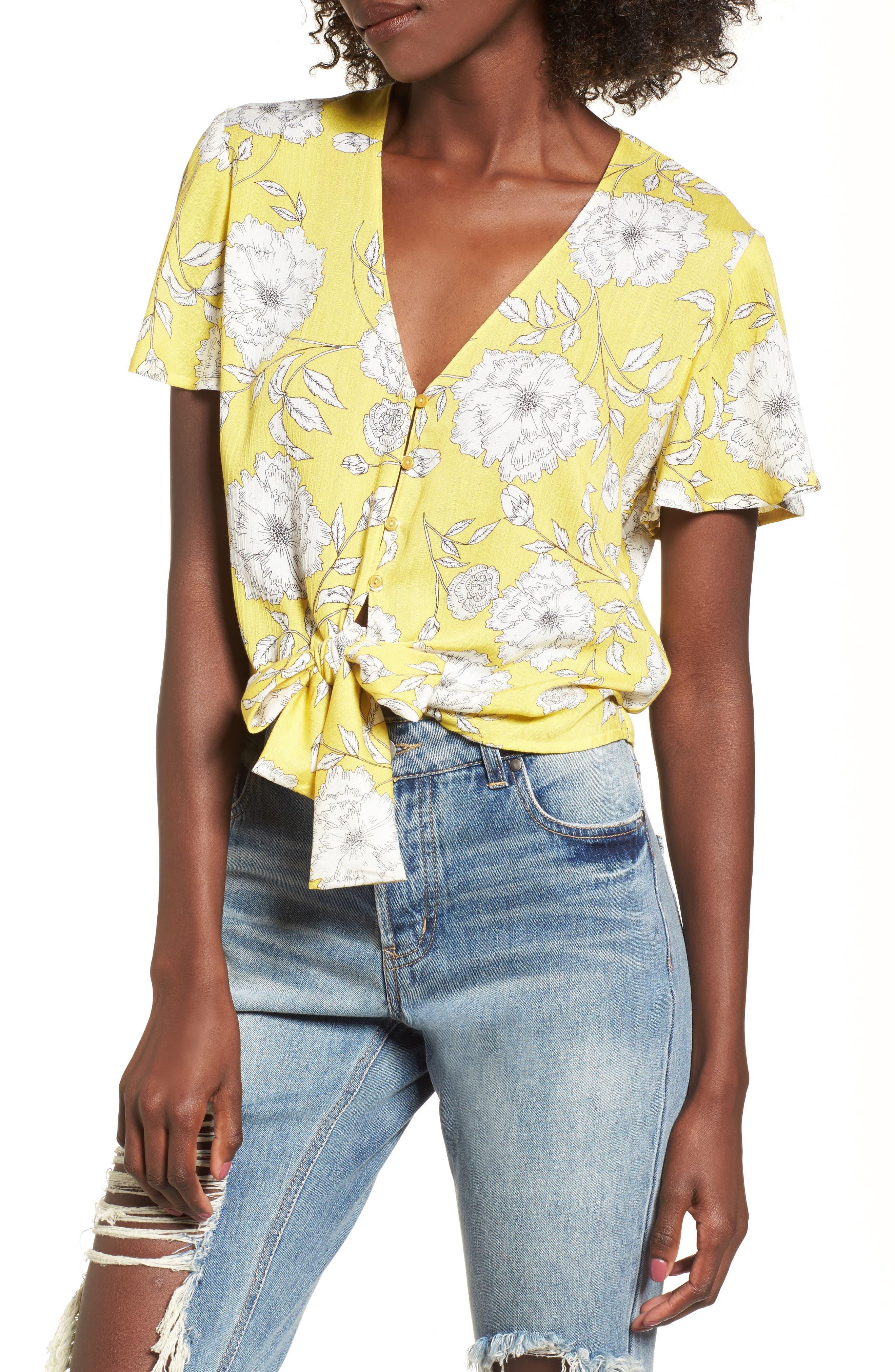 Knot Front Shirt,                             Main thumbnail 4, color,