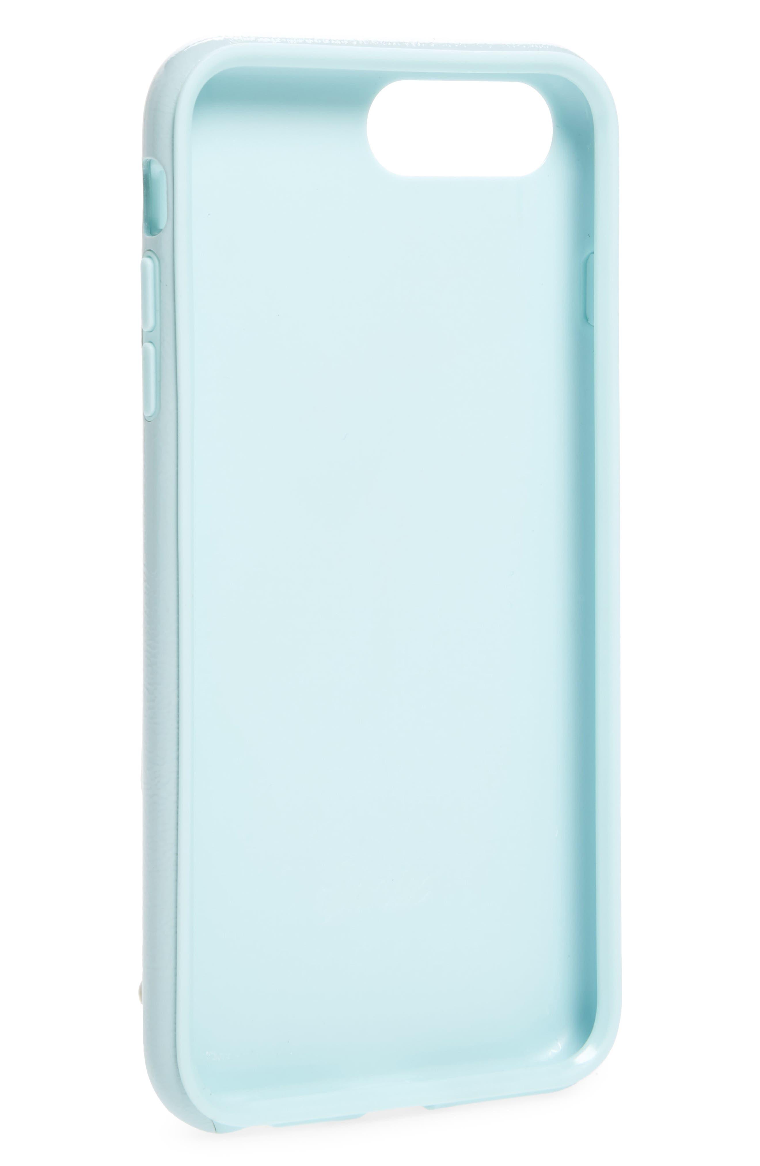 Cherry Faux Leather iPhone 6/6s/7/8 Plus Case,                             Alternate thumbnail 13, color,