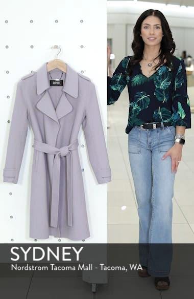 Double Face Wool Blend Wrap Front Coat, sales video thumbnail