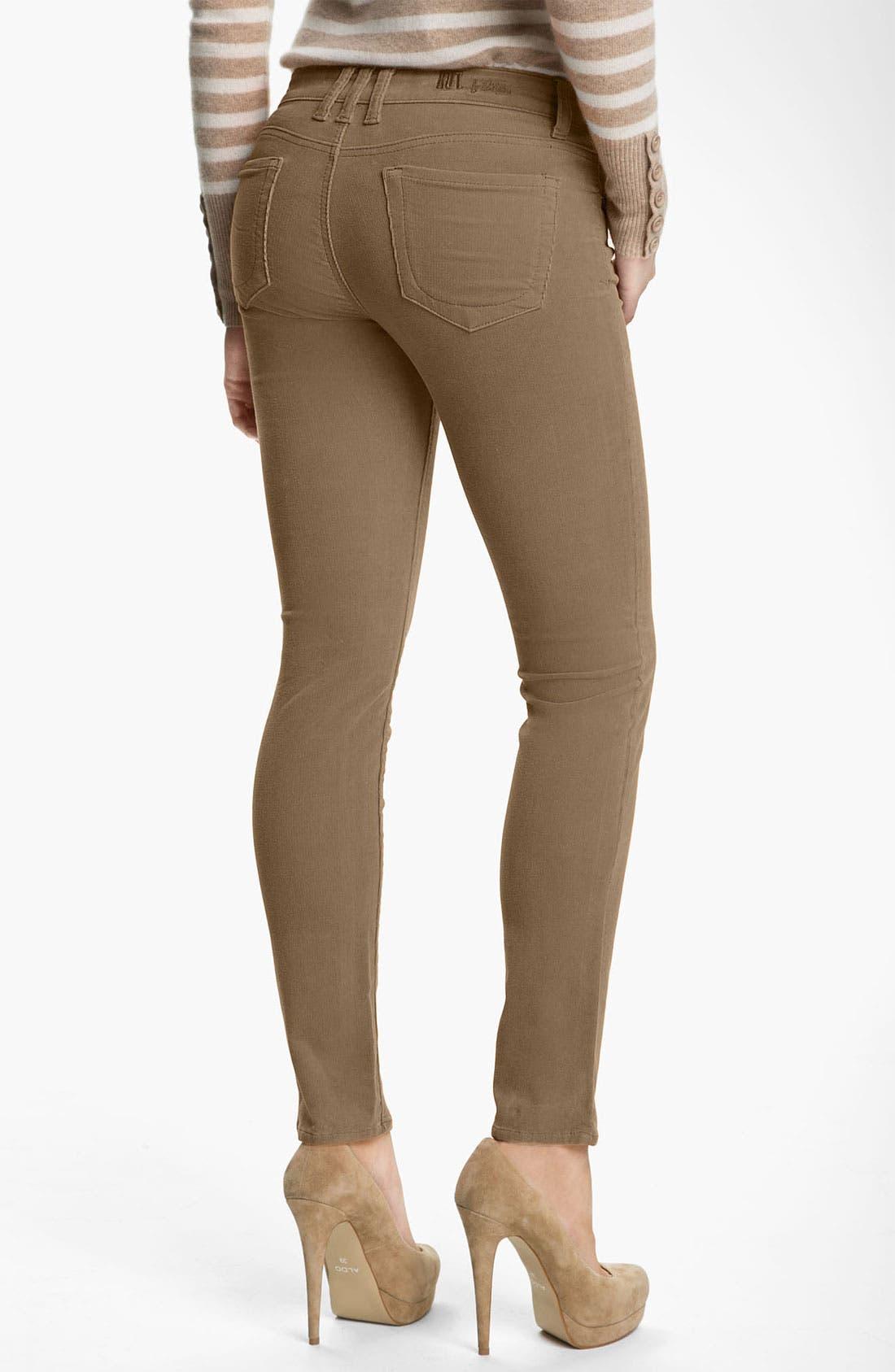 'Diana' Stretch Corduroy Skinny Pants,                             Alternate thumbnail 75, color,