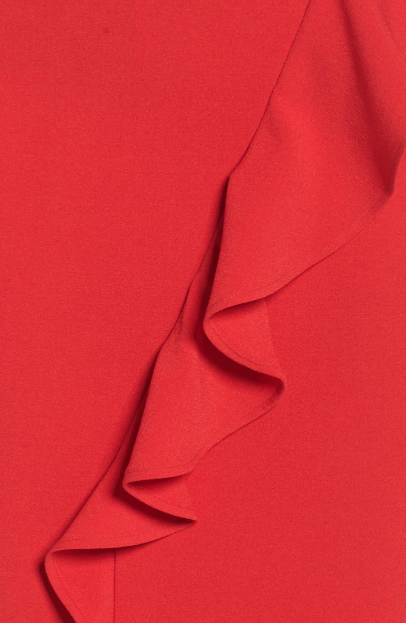 Ruffle Sheath Dress,                             Alternate thumbnail 5, color,                             610