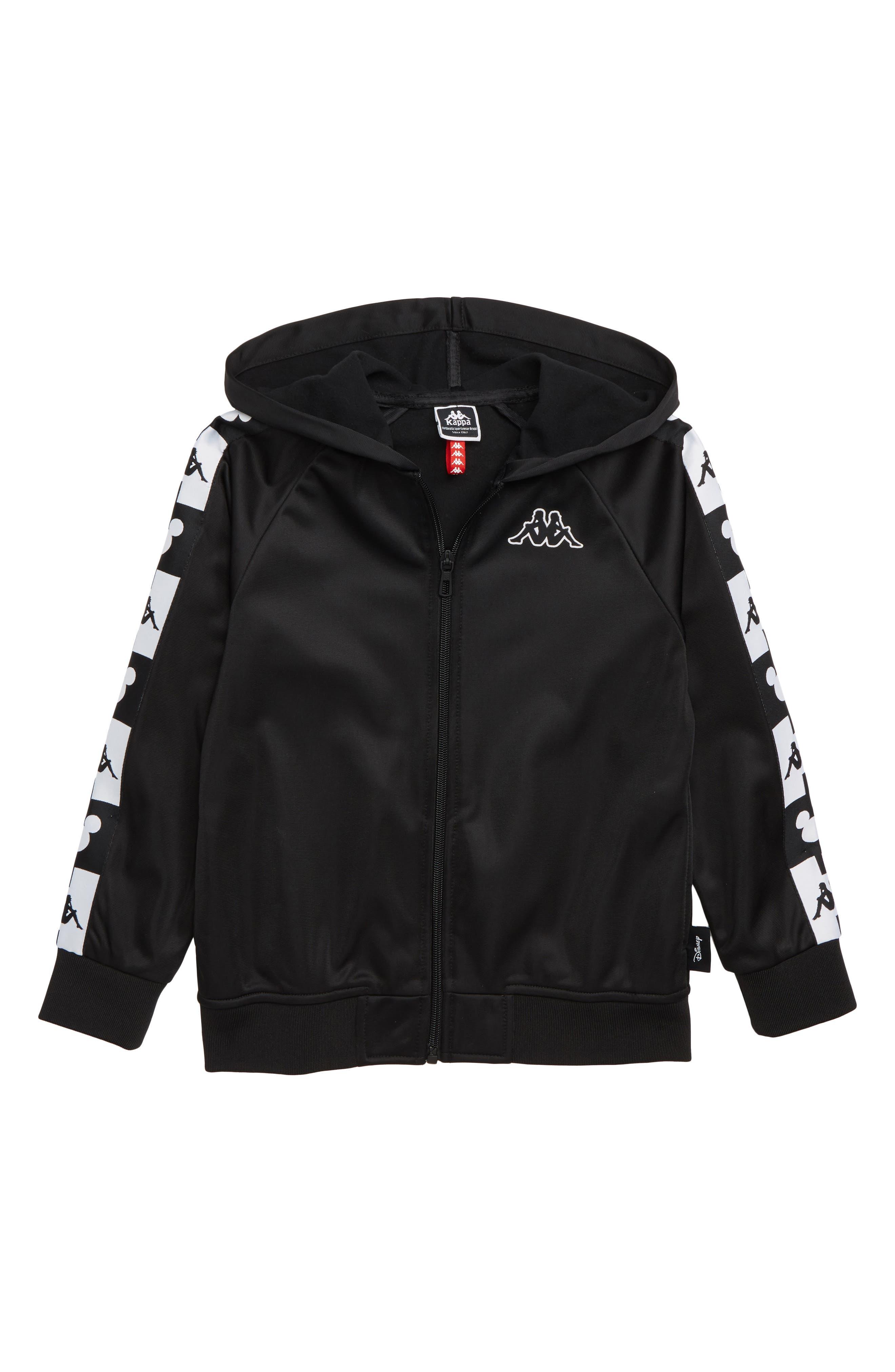 x Disney<sup>®</sup> Authentic Ander Full Zip Hoodie,                         Main,                         color, BLACK