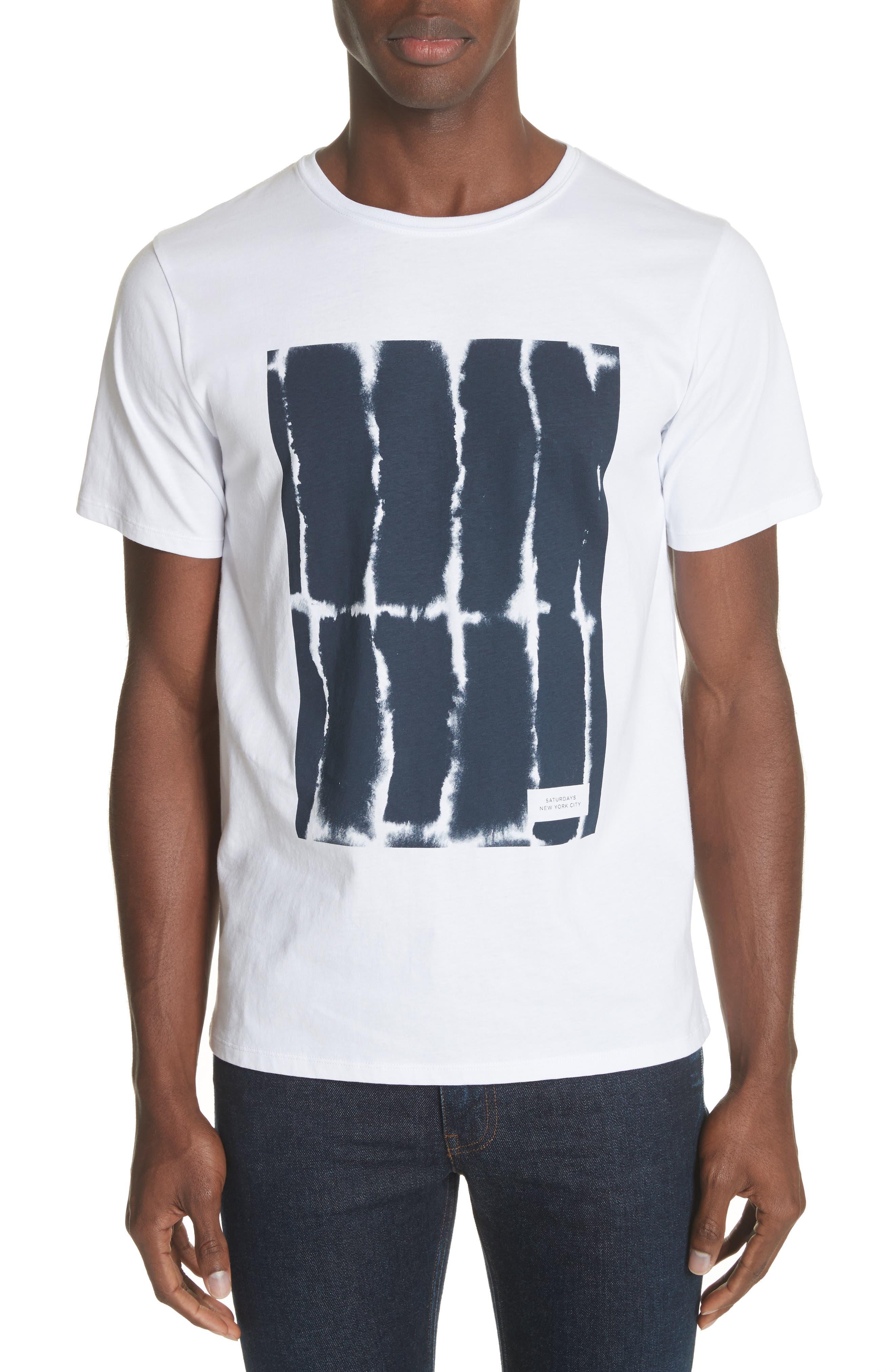 SATURDAYS NYC,                             Water Stack Graphic T-Shirt,                             Main thumbnail 1, color,                             110