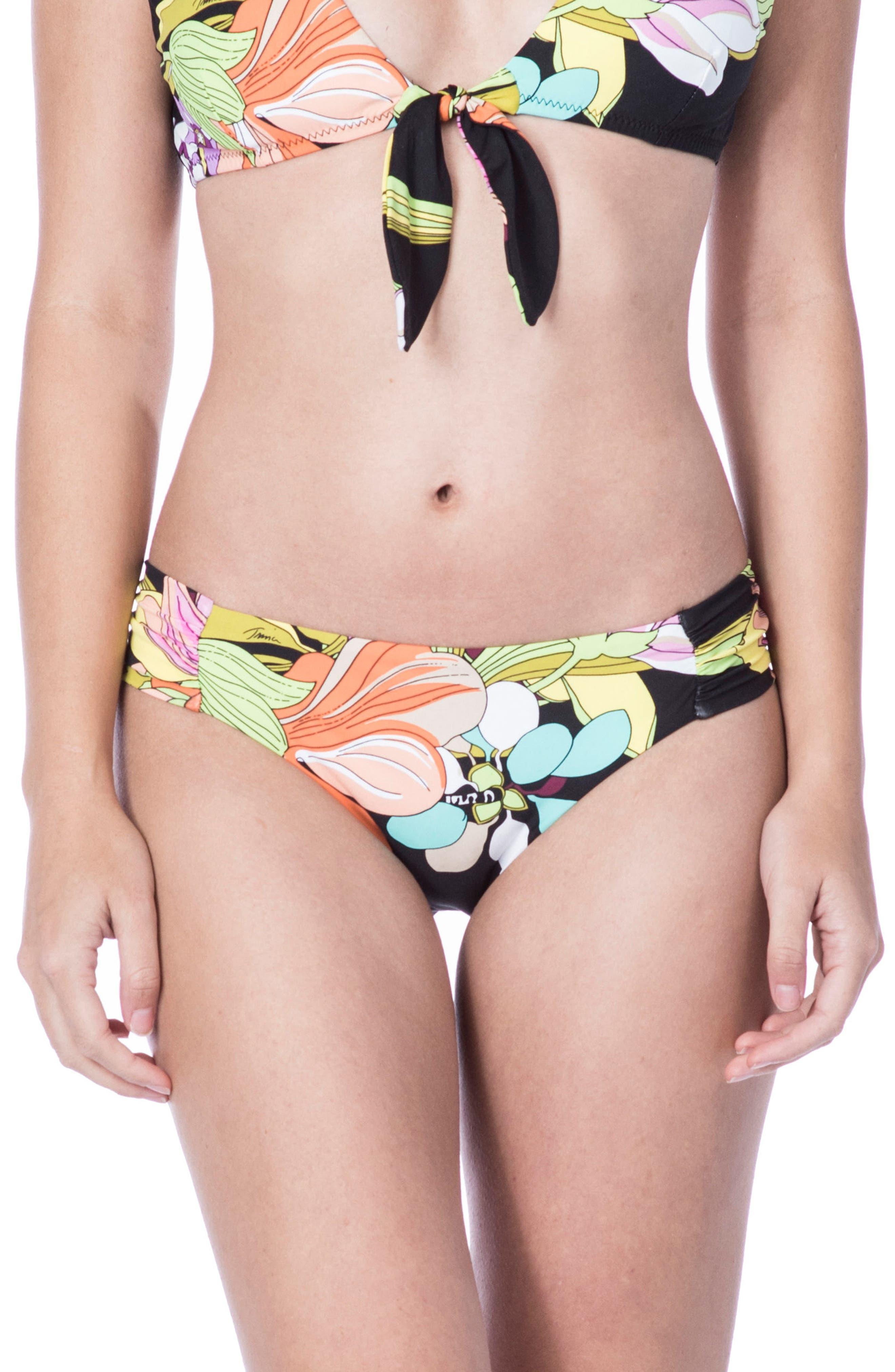Bouquet Floral Hipster Bikini Bottoms,                             Main thumbnail 1, color,                             006