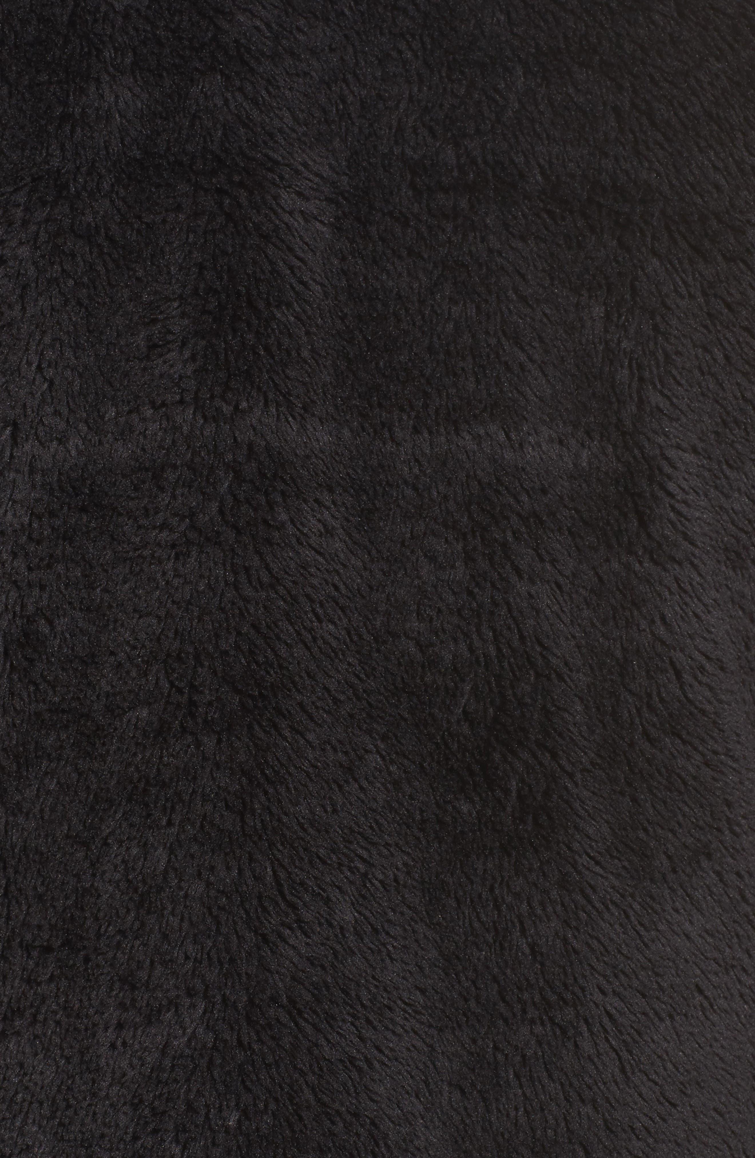 Furry Fleece Jacket,                             Alternate thumbnail 7, color,                             TNF BLACK