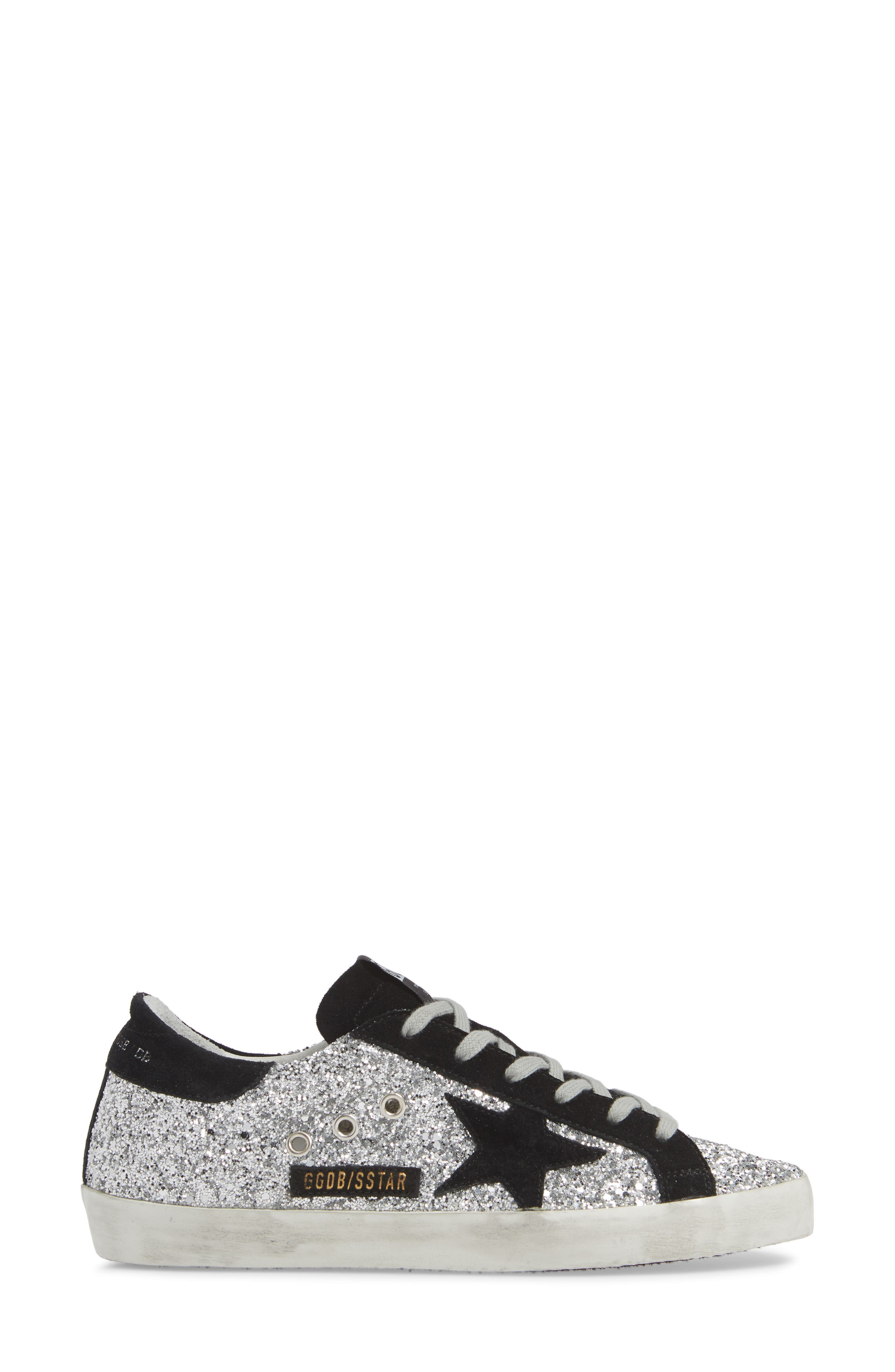 Superstar Glitter Sneaker,                             Alternate thumbnail 3, color,                             040
