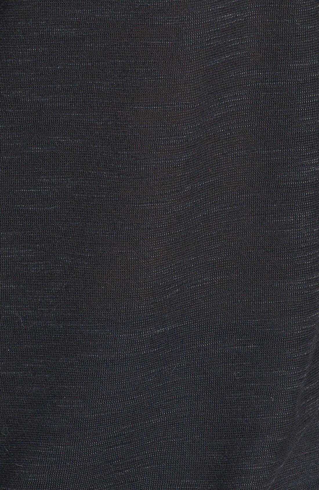 Draped Shoulder Jersey Top,                             Alternate thumbnail 4, color,                             001