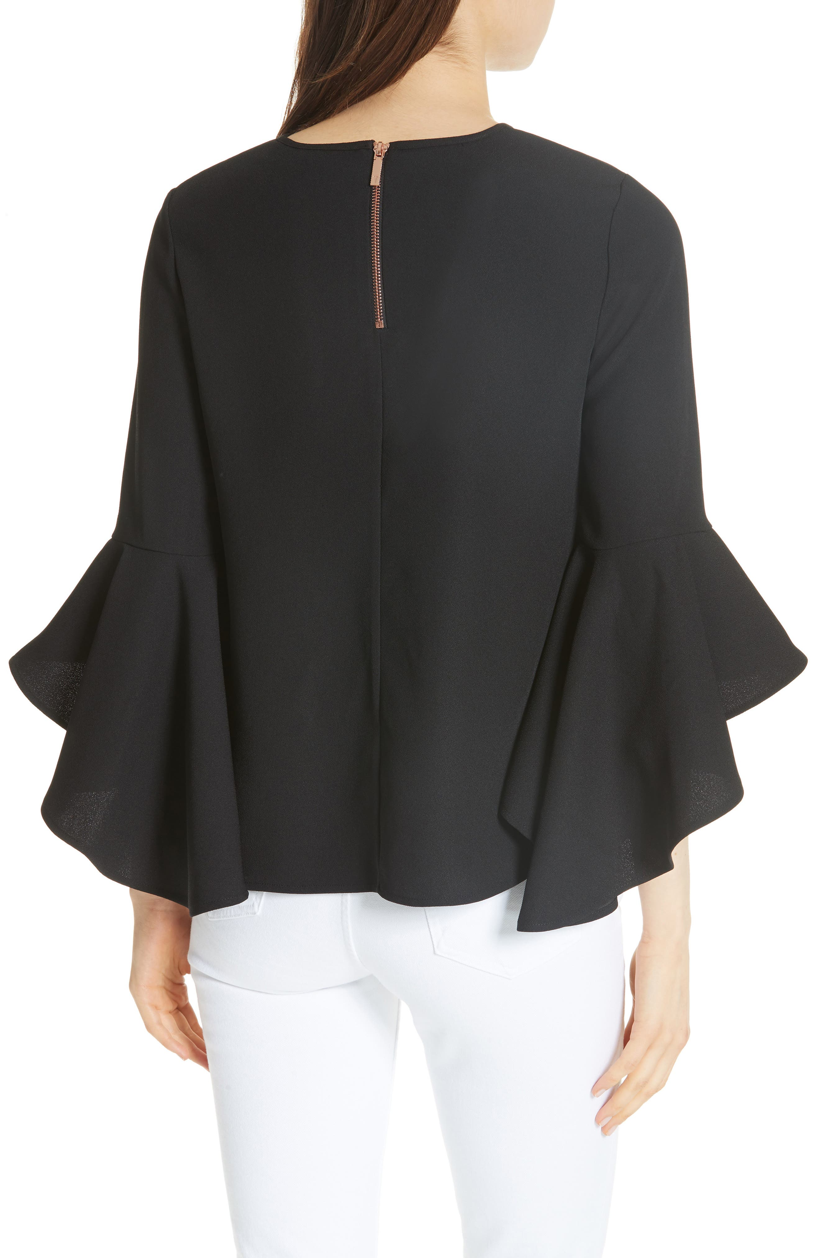 TED BAKER LONDON,                             Suuzan Tranquility Waterfall Top,                             Alternate thumbnail 2, color,                             001