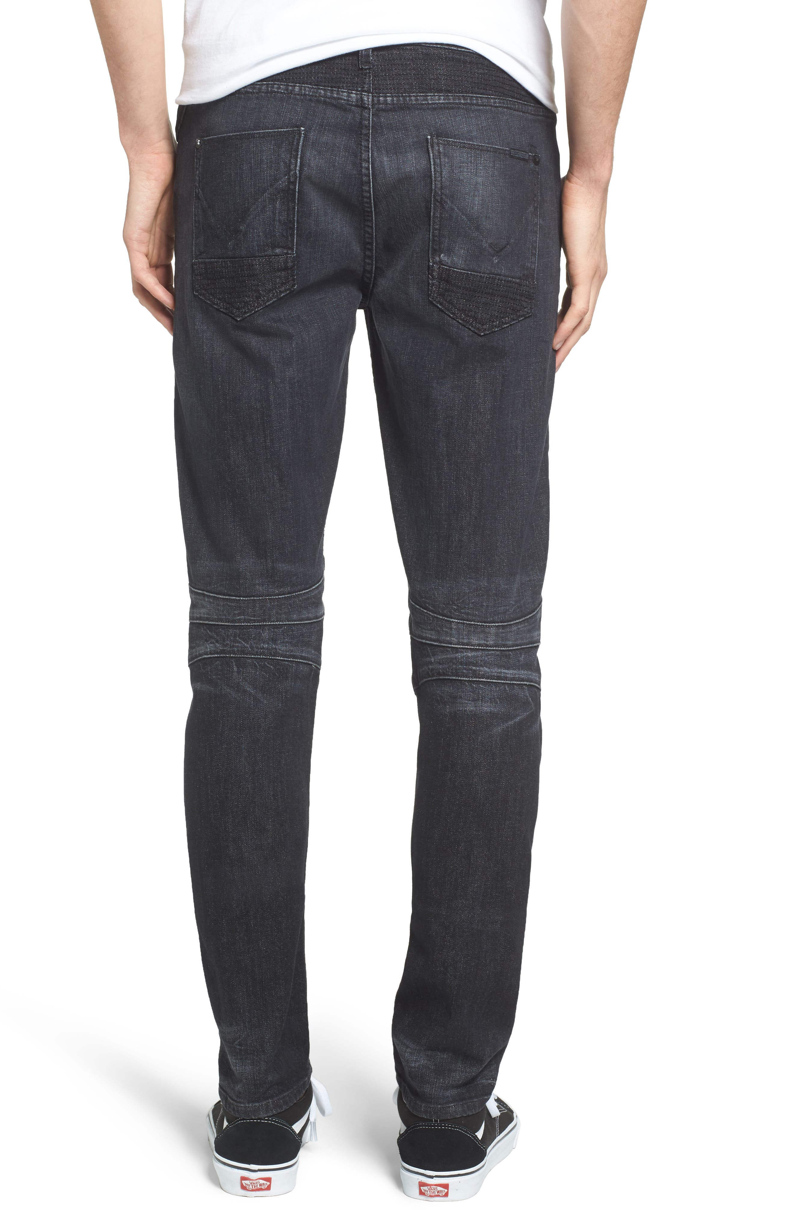 Blinder Skinny Fit Moto Jeans,                             Alternate thumbnail 2, color,                             001