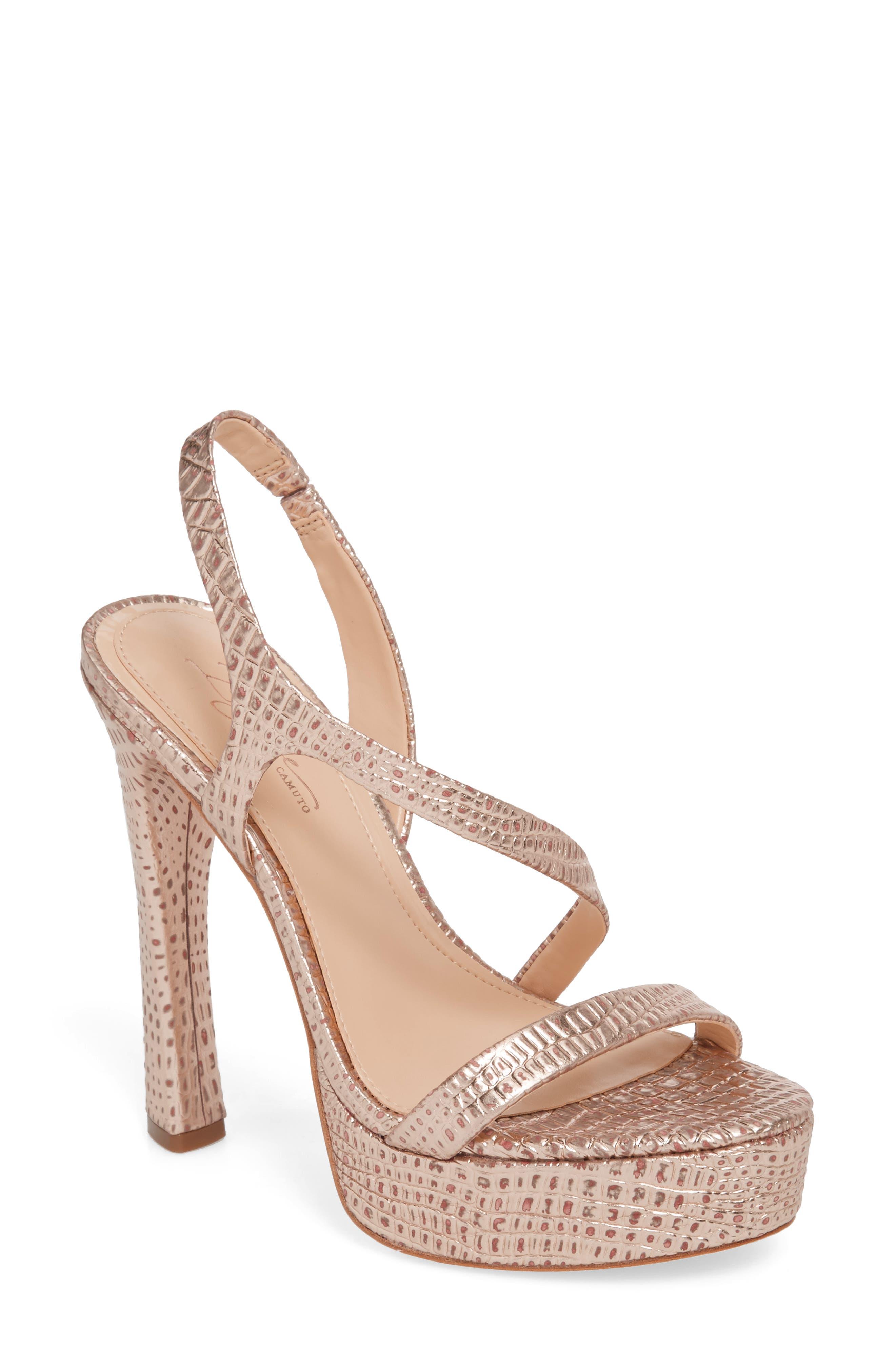 Imagine By Vince Camuto Prent Asymmetrical Platform Sandal, Pink
