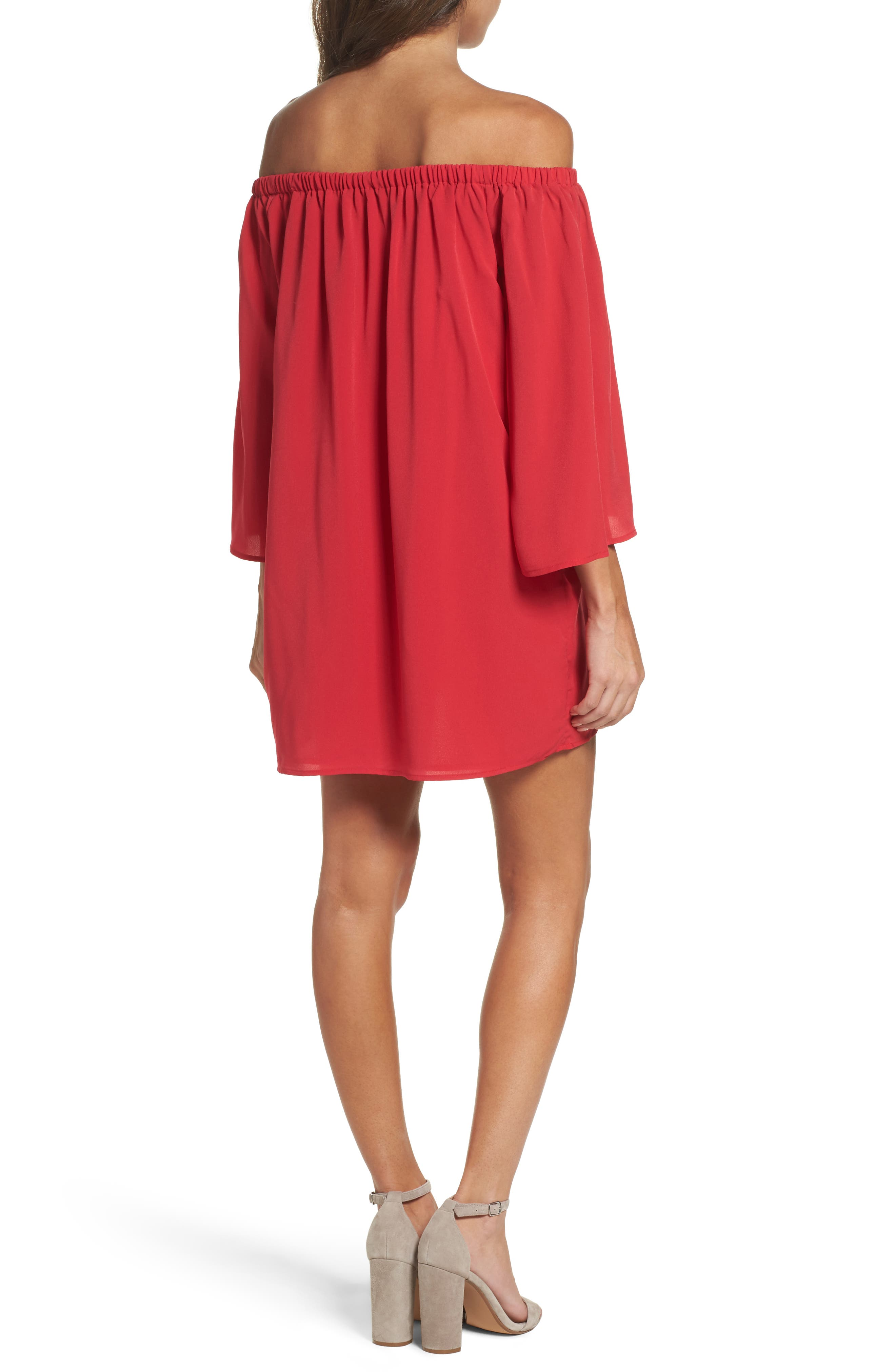 Polly Off the Shoulder Dress,                             Alternate thumbnail 2, color,                             672
