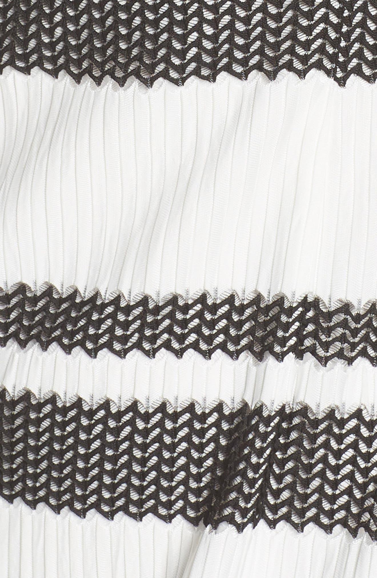 ADRIANNA PAPELL,                             Sleeveless Stripe Trumpet Sheath Dress,                             Alternate thumbnail 6, color,                             004