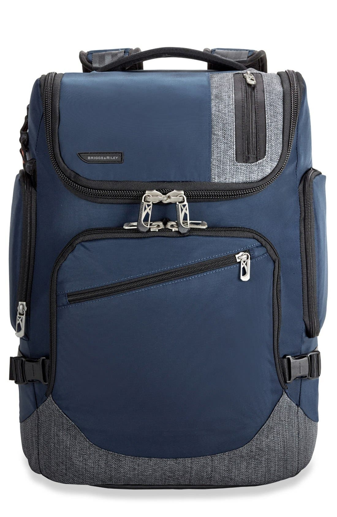 BRX - Excursion Backpack,                             Main thumbnail 1, color,                             BLUE
