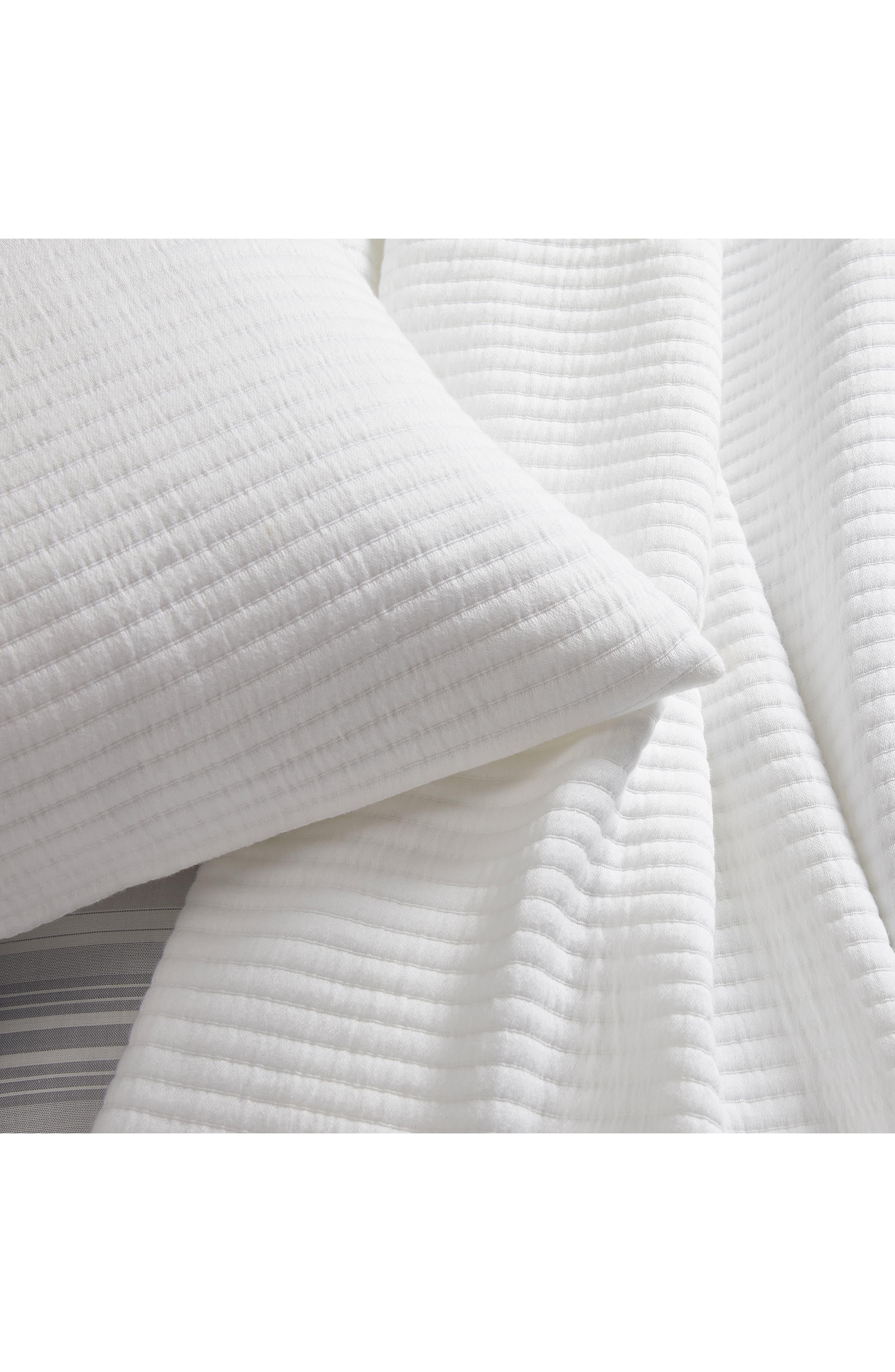 THE WHITE COMPANY,                             Classic Rib Cushion Cover,                             Alternate thumbnail 2, color,                             WHITE
