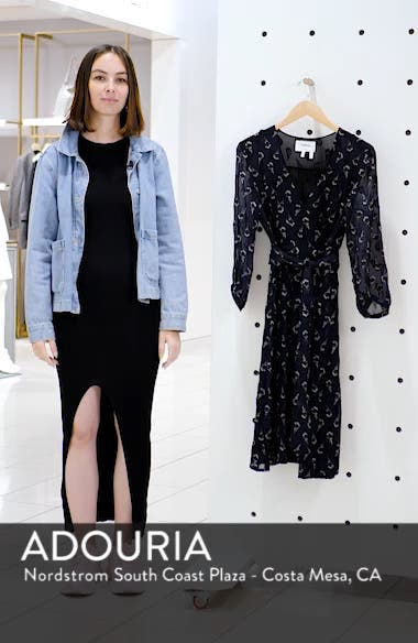 Memory Floral Silk Chiffon Dress, sales video thumbnail