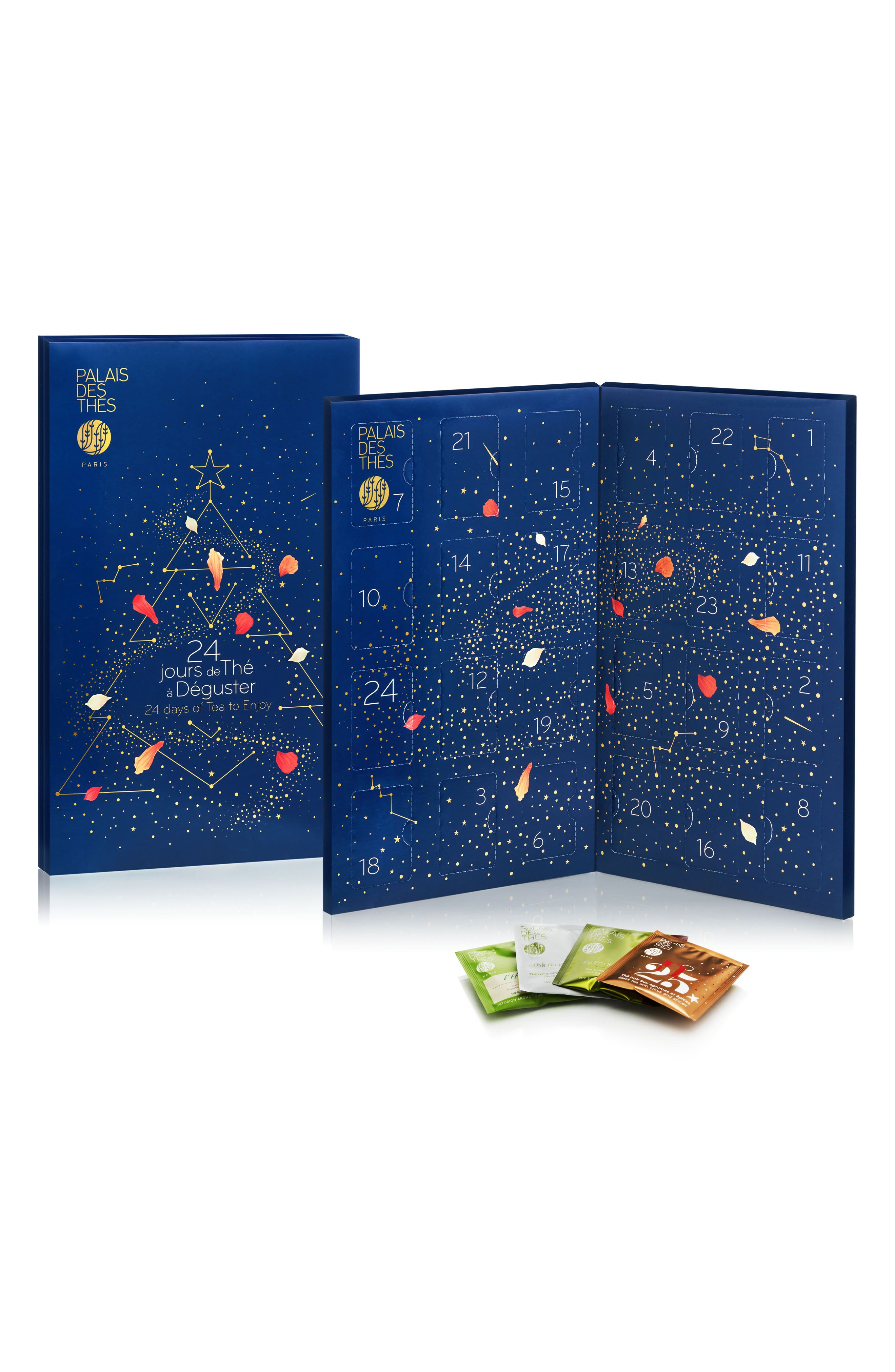 PALAIS DES THÉS Countdown to Christmas Tea Advent Calendar, Main, color, 400