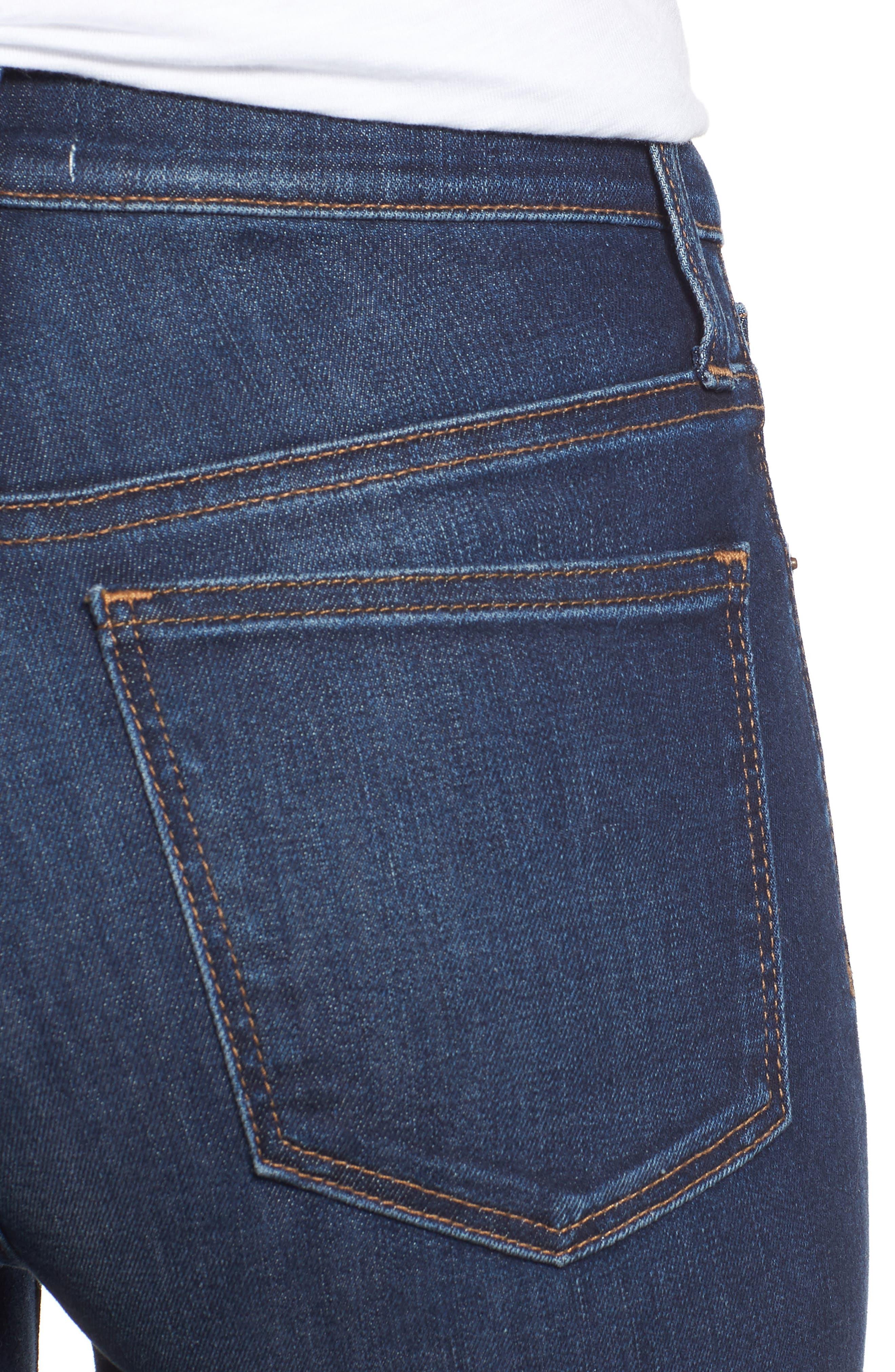 Skinny Jeans,                             Alternate thumbnail 4, color,                             DARK SOFT