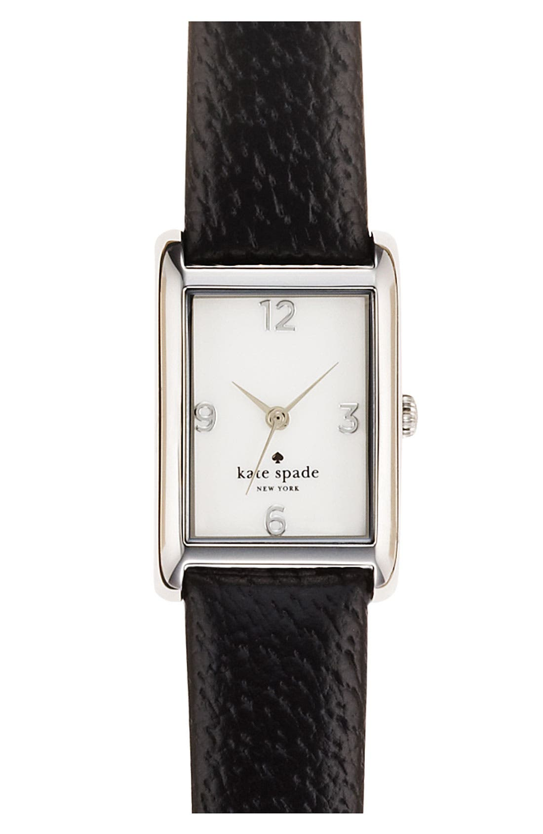 'cooper' leather strap watch, 21mm x 32mm,                         Main,                         color, 001