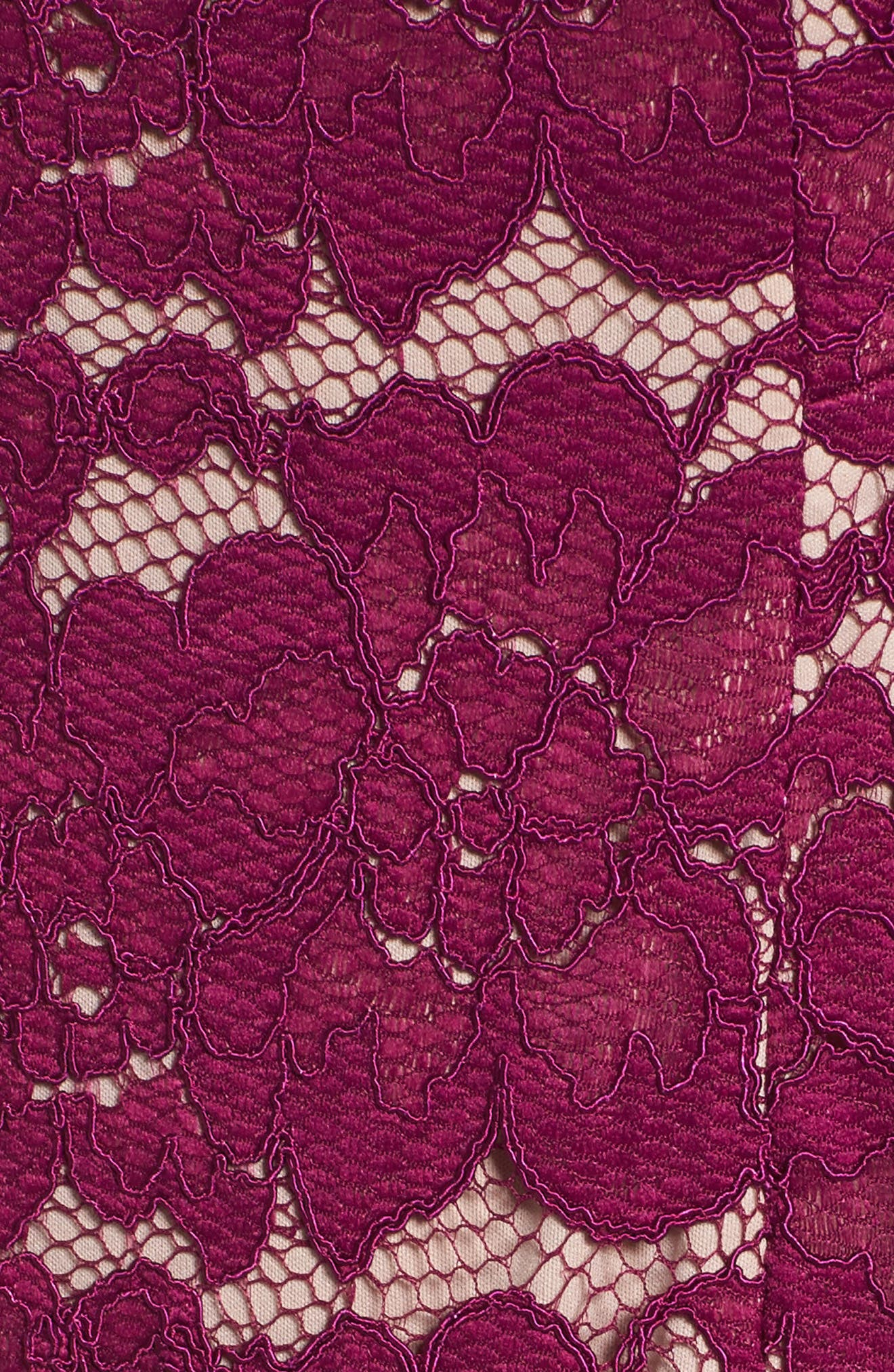 Twin Flower Lace Sheath Dress,                             Alternate thumbnail 5, color,