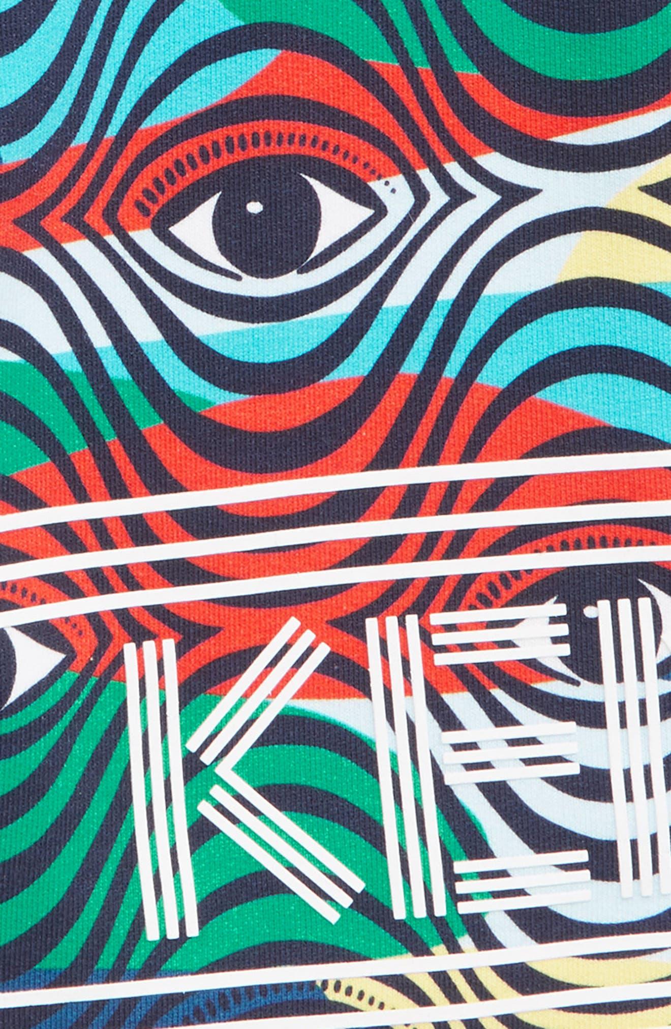 KENZO,                             Print Fleece Bermuda Shorts,                             Alternate thumbnail 2, color,                             MULTICOLORED