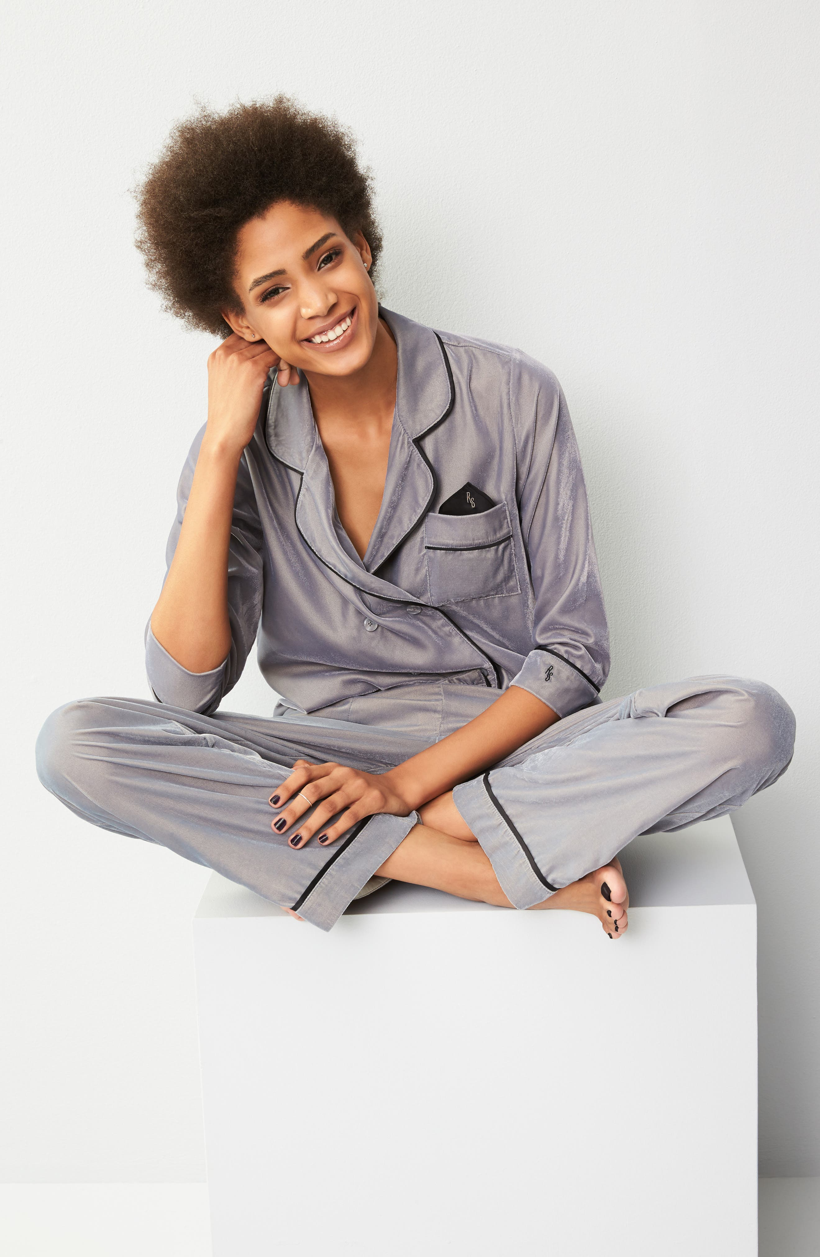 Velvet Pajama Pants,                             Alternate thumbnail 22, color,