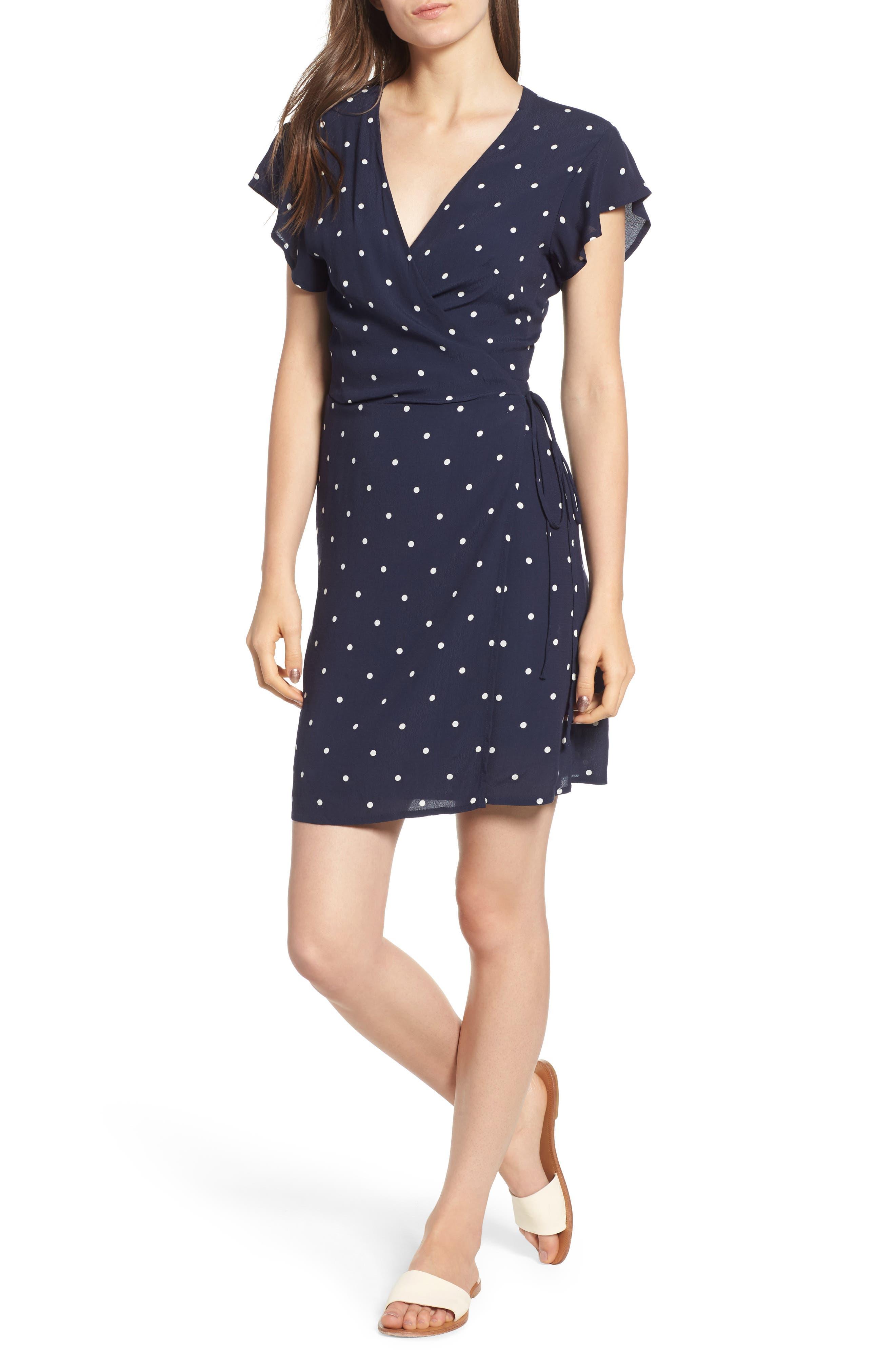 Brenna Wrap Dress, Main, color, 482